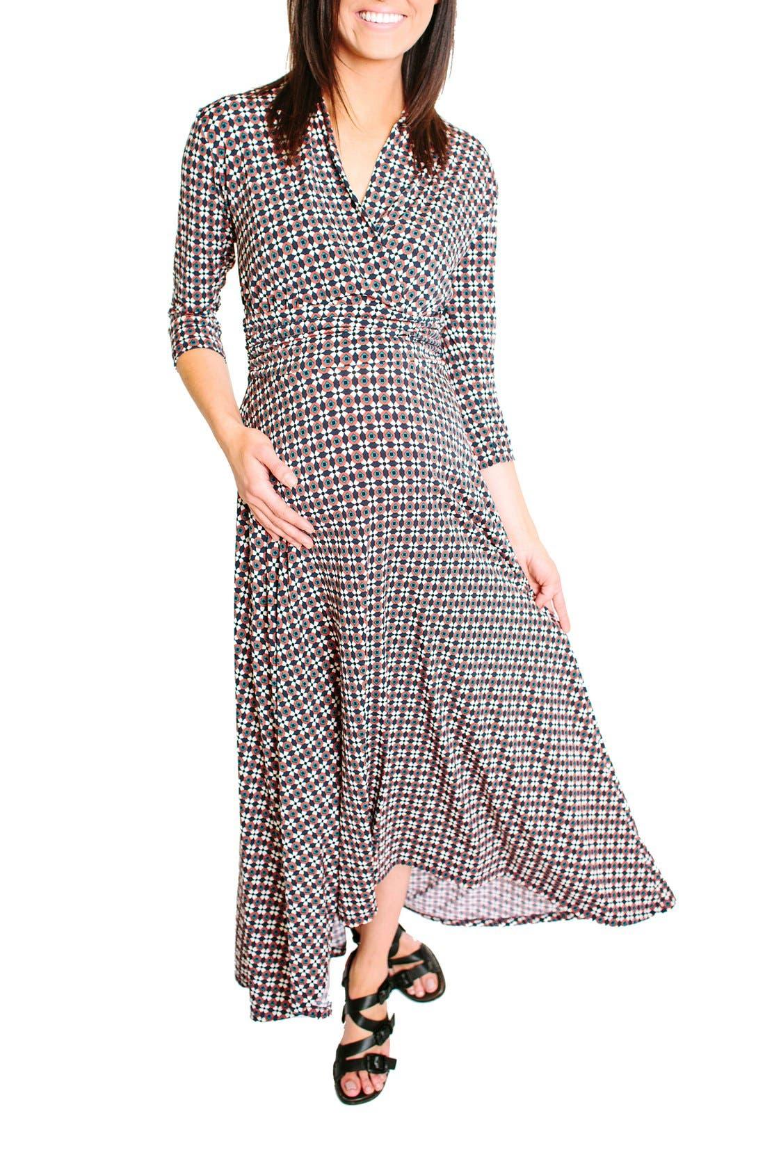 Liv Maternity Dress,                             Alternate thumbnail 5, color,                             602