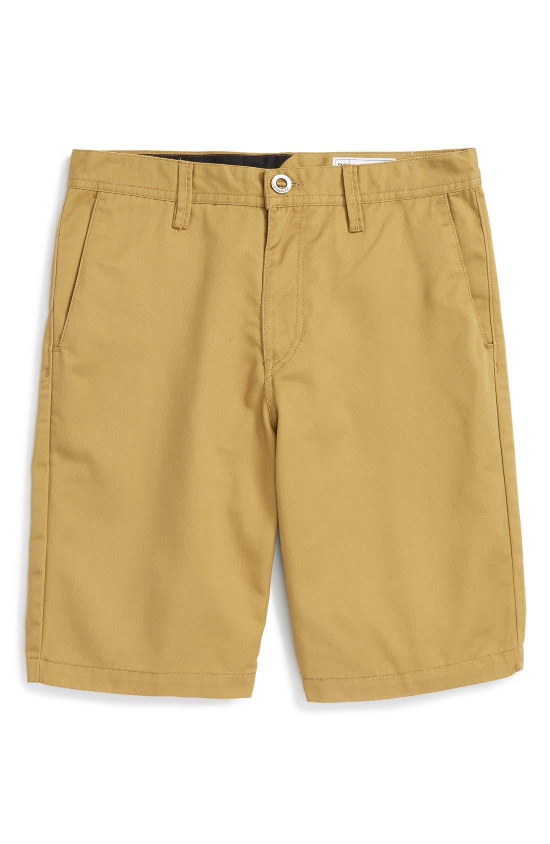 Chino Shorts,                             Main thumbnail 1, color,                             KHAKI DARK