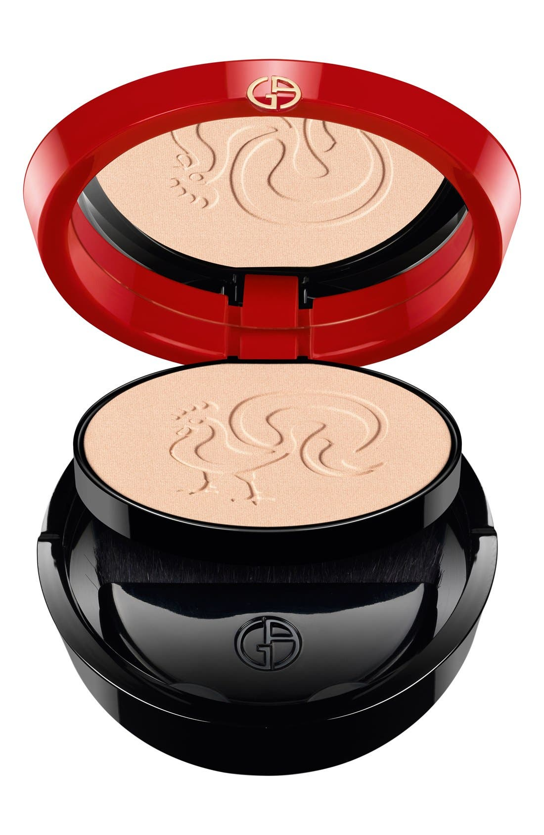Chinese New Year Armani Glow Face Powder Compact,                             Alternate thumbnail 4, color,                             000