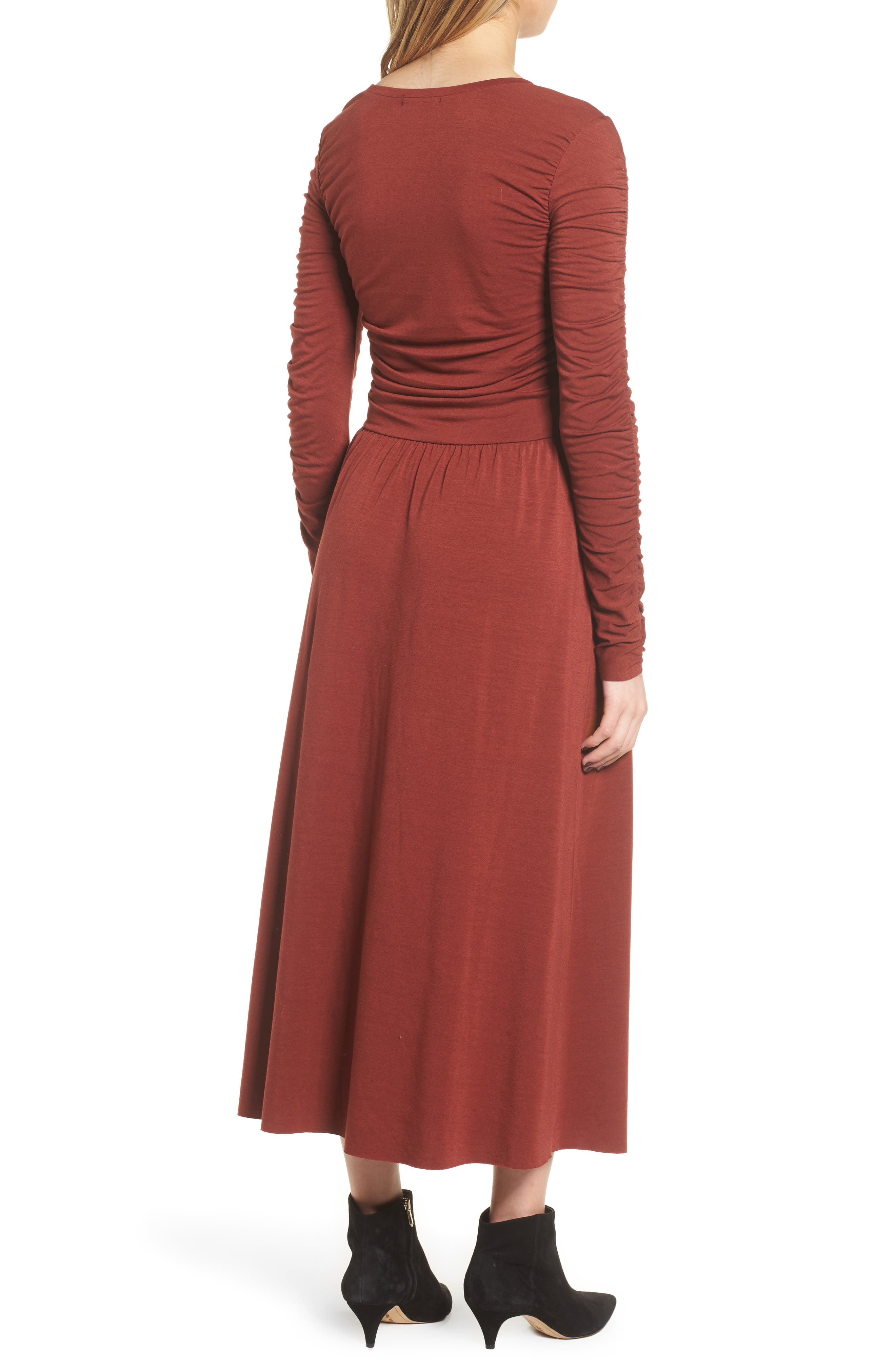Ruched Jersey Knit Dress,                             Alternate thumbnail 2, color,                             200