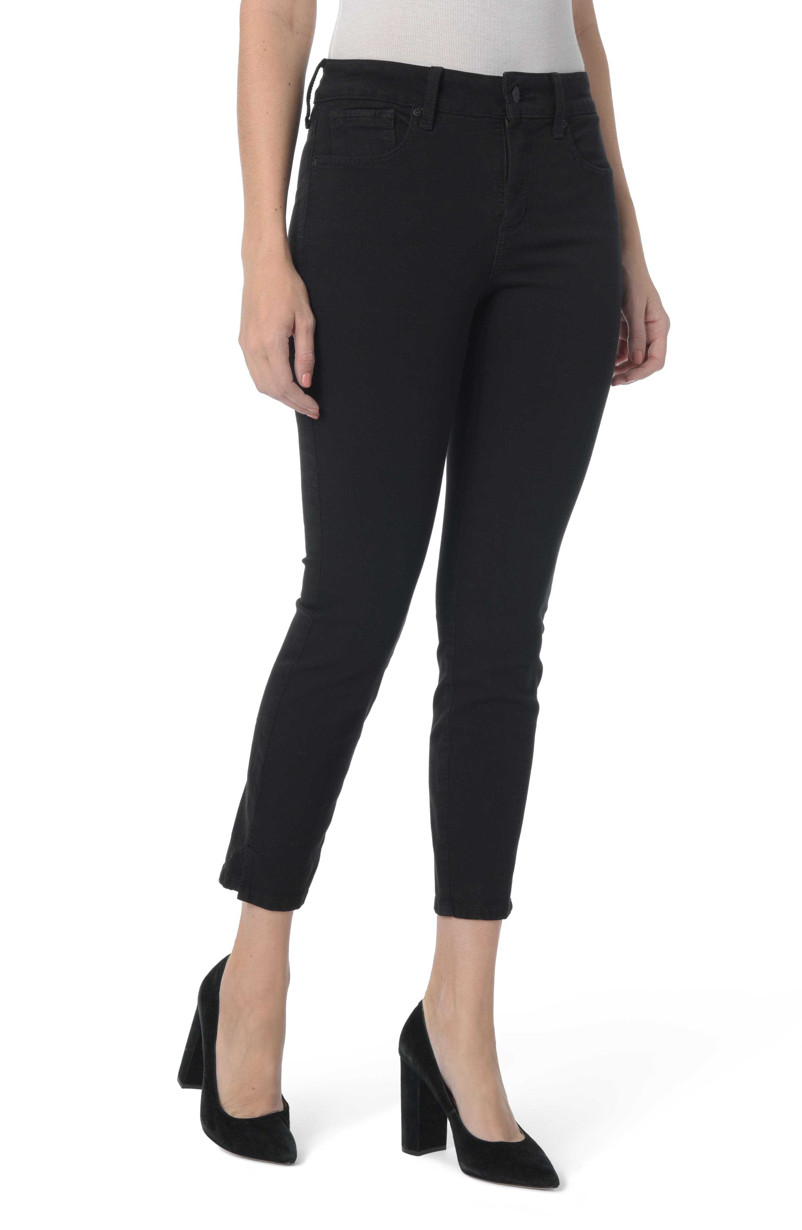 Ami Stretch Ankle Skinny Jeans,                         Main,                         color, BLACK