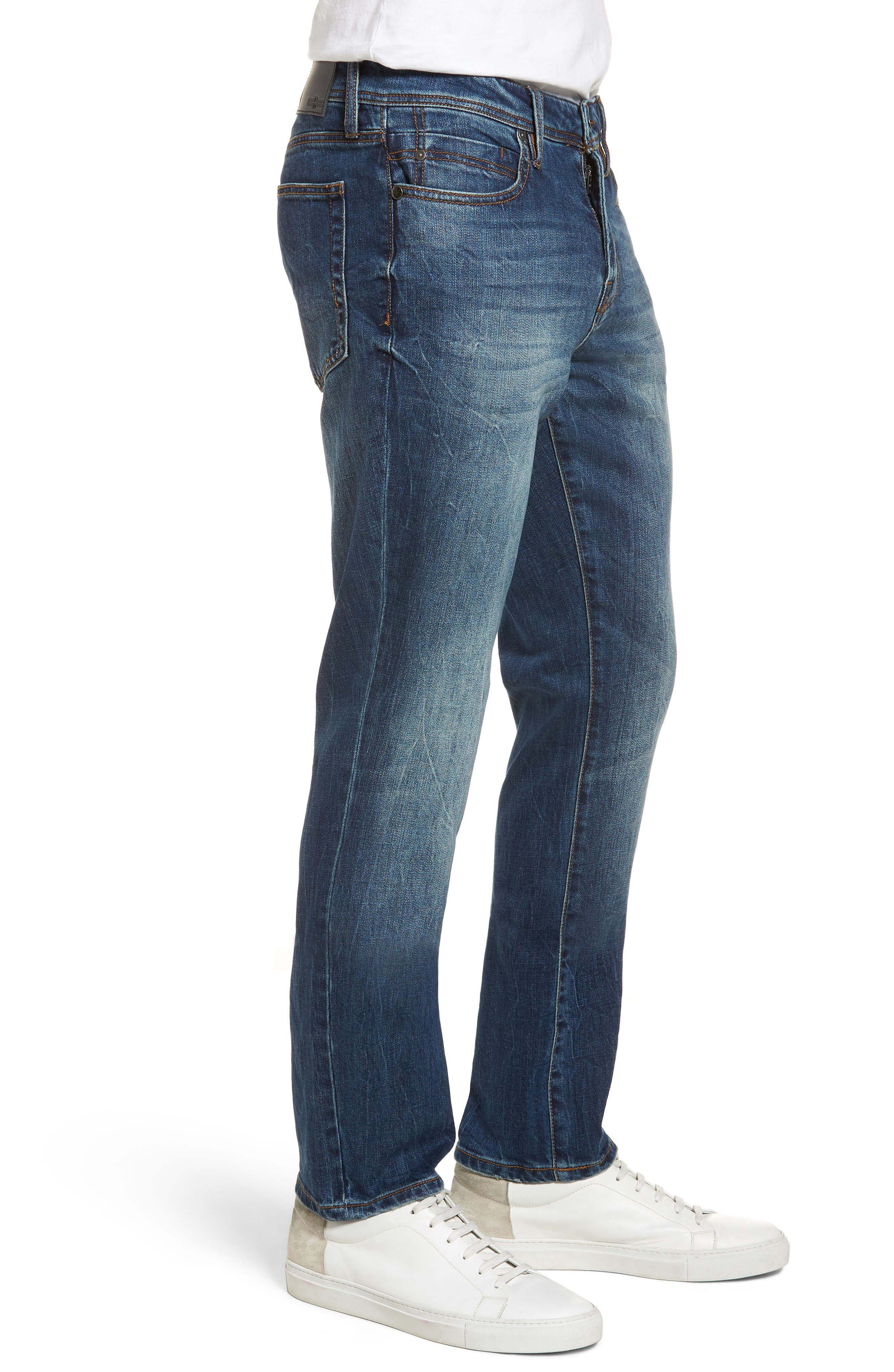 Jeans Co. Kingston Slim Straight Leg Jeans,                             Alternate thumbnail 3, color,                             ODESSA VINTAGE DARK
