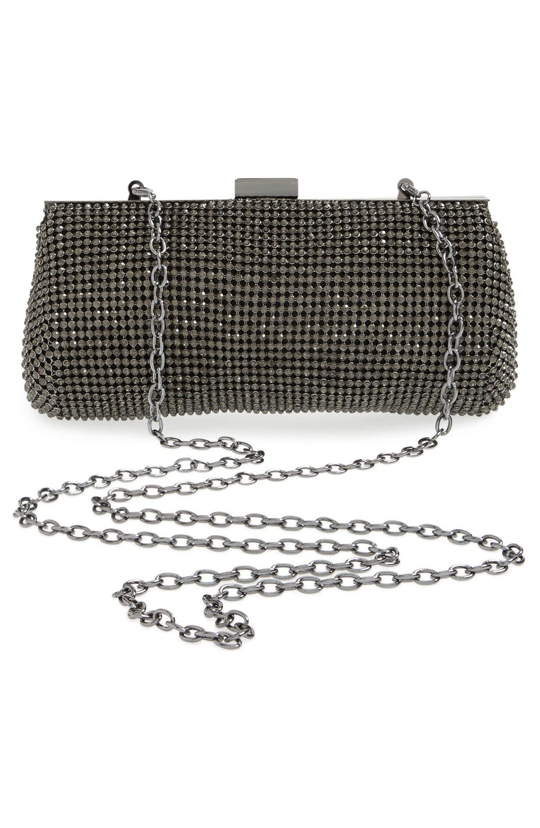 Crystal Mesh Clutch,                             Alternate thumbnail 8, color,