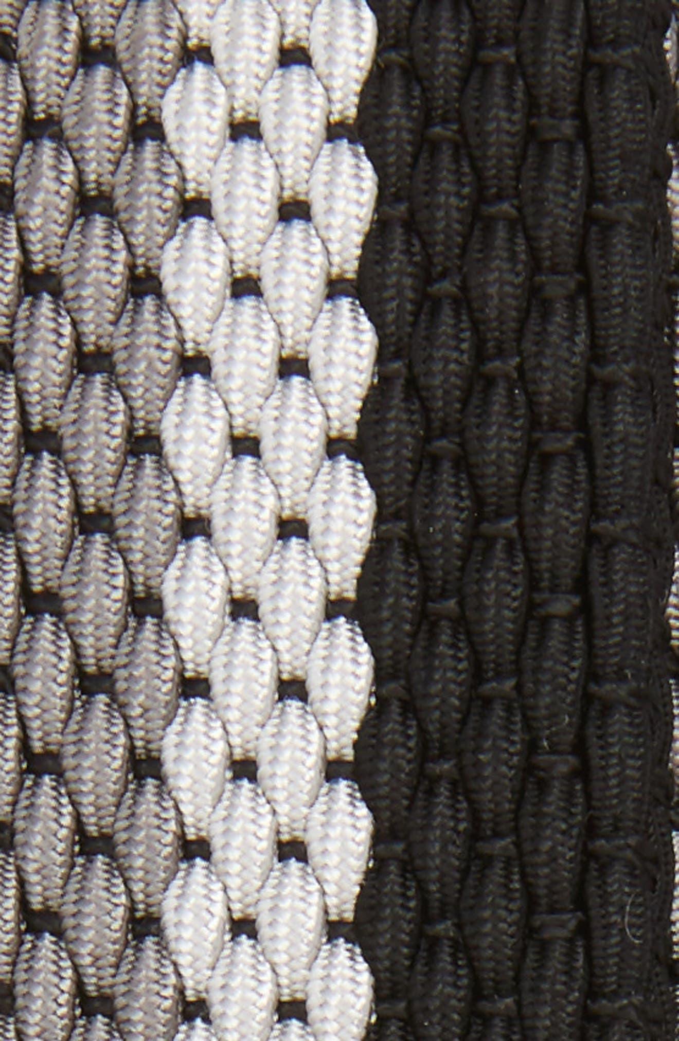 Tri Stripe Reversible Woven Belt,                             Alternate thumbnail 3, color,                             GREY/ NICKLE/ BLACK