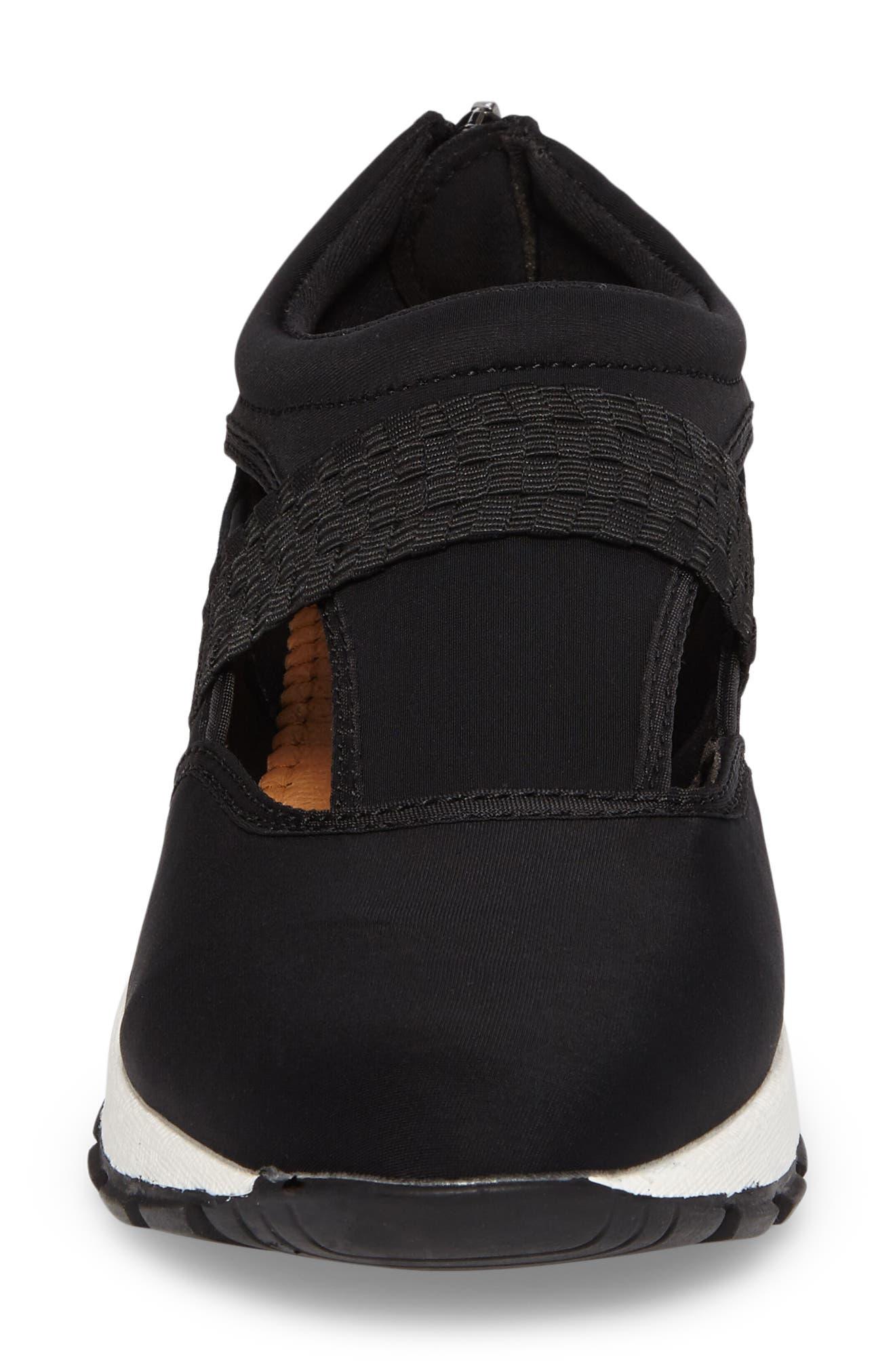 Bernie Mev Janelle Sneaker,                             Alternate thumbnail 4, color,                             BLACK FABRIC