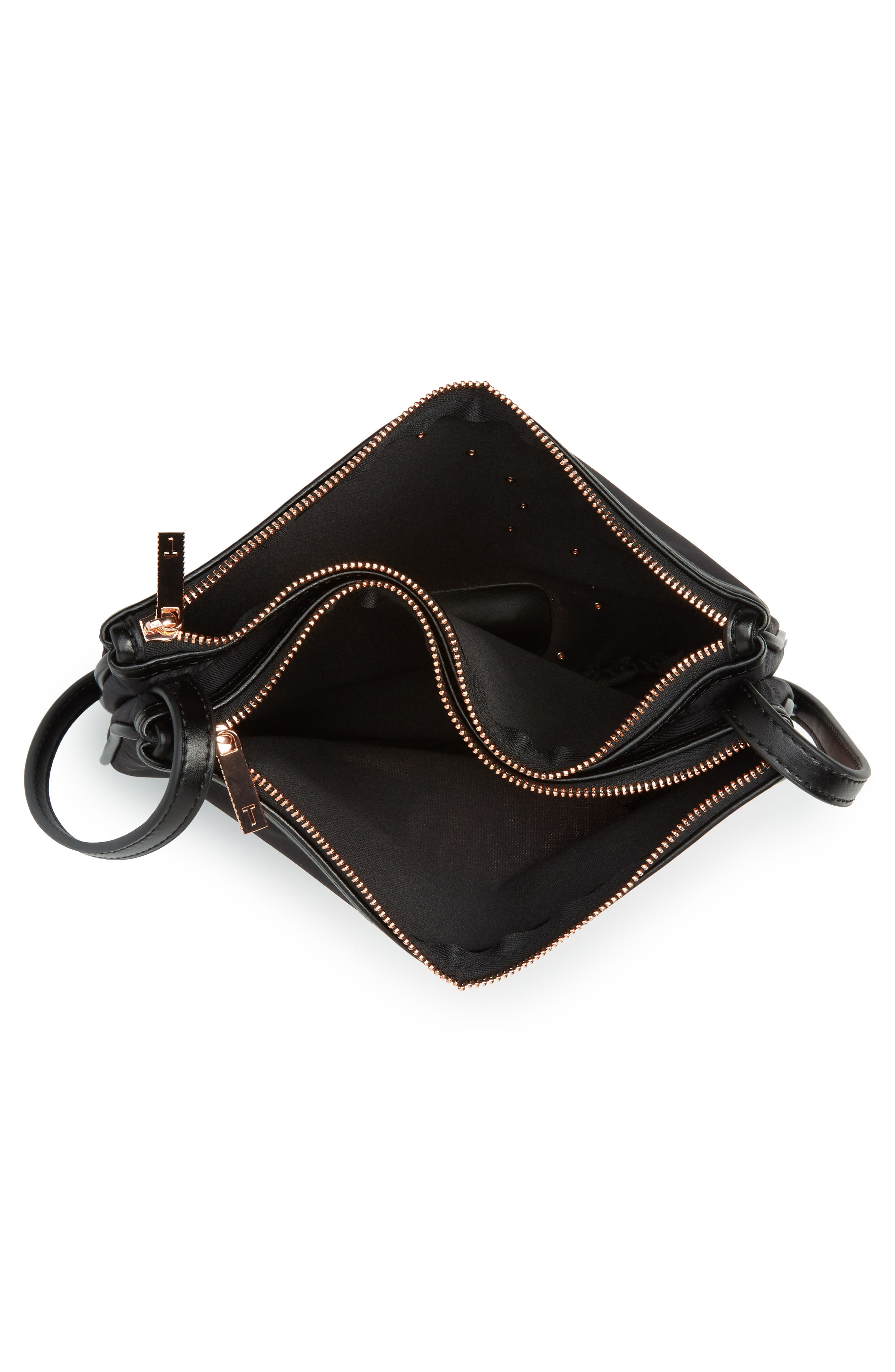 Tranquility Crossbody Bag,                             Alternate thumbnail 4, color,                             BLACK