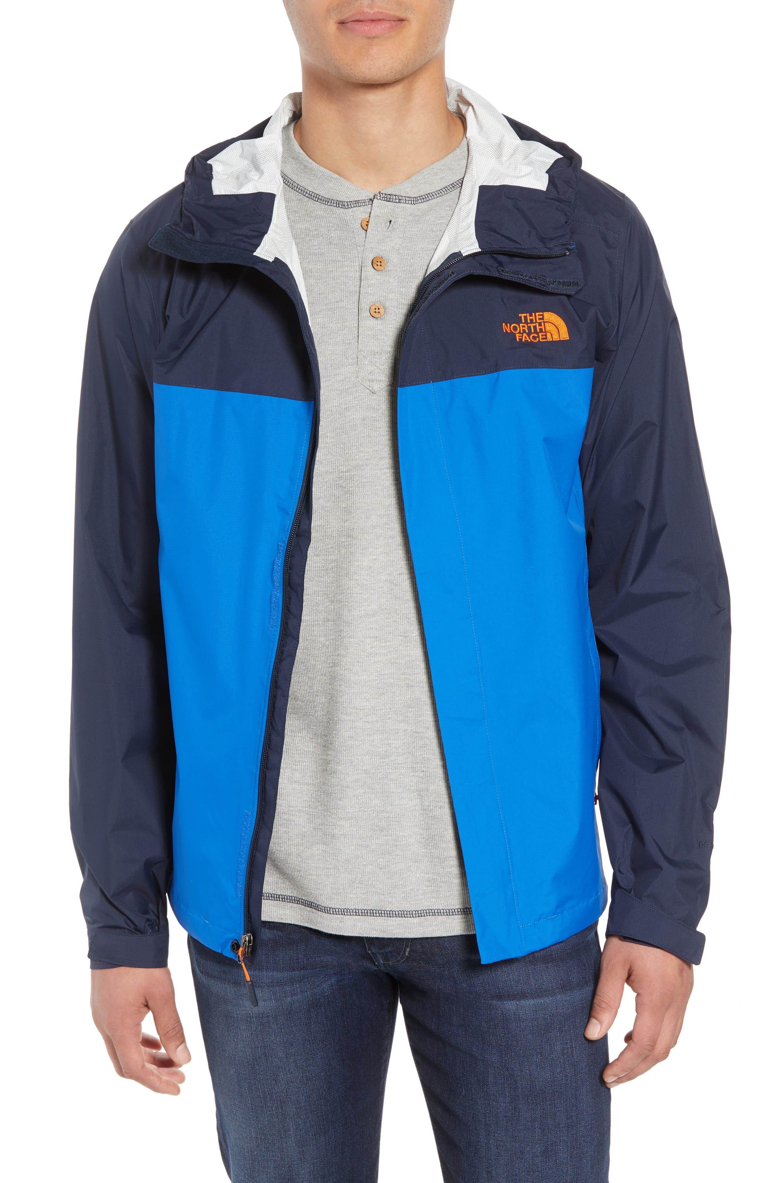 Venture II Raincoat,                         Main,                         color, TURKISH SEA/ NAVY/ ORANGE