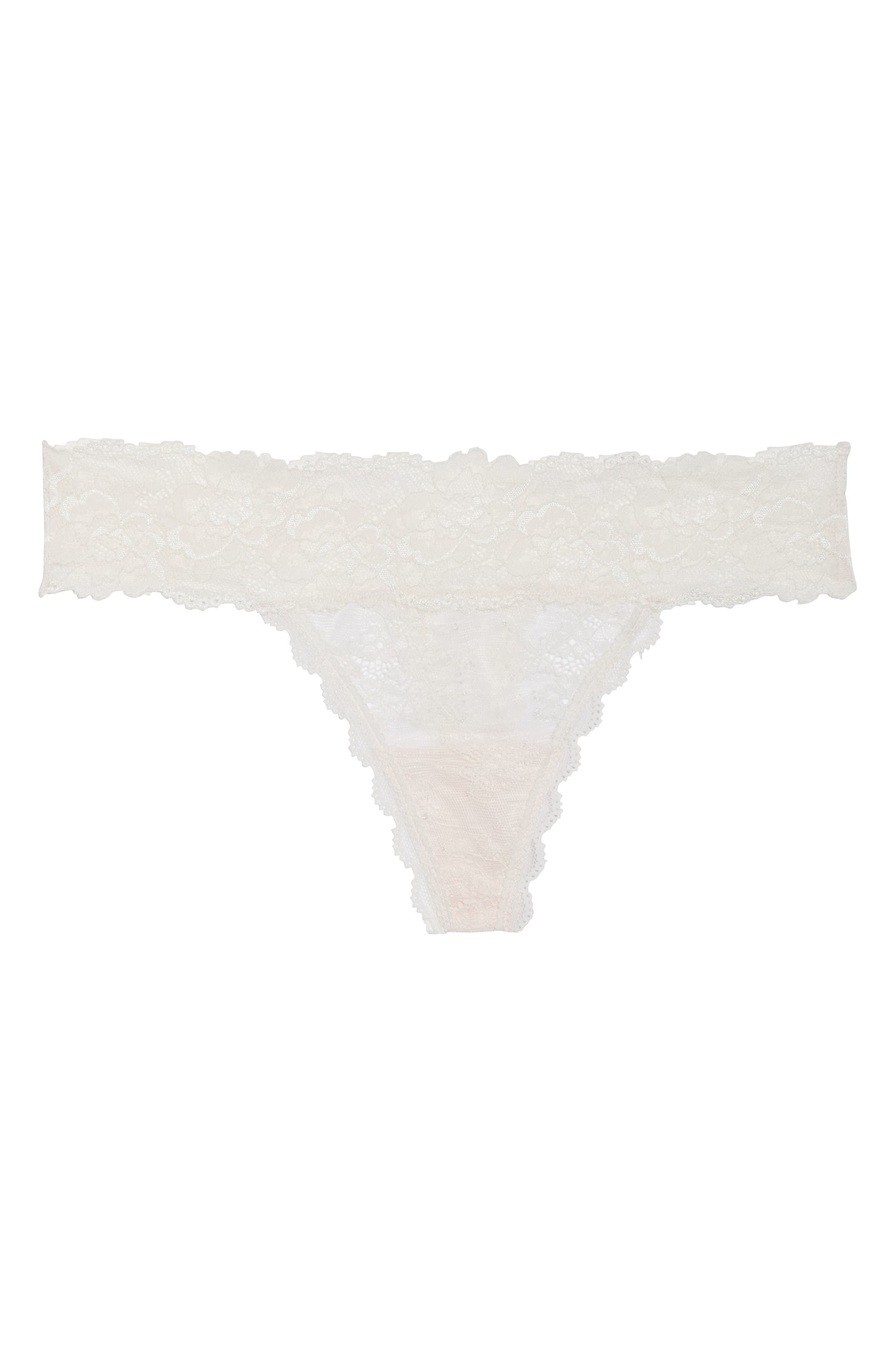 Honeydew Lace Thong,                             Alternate thumbnail 87, color,