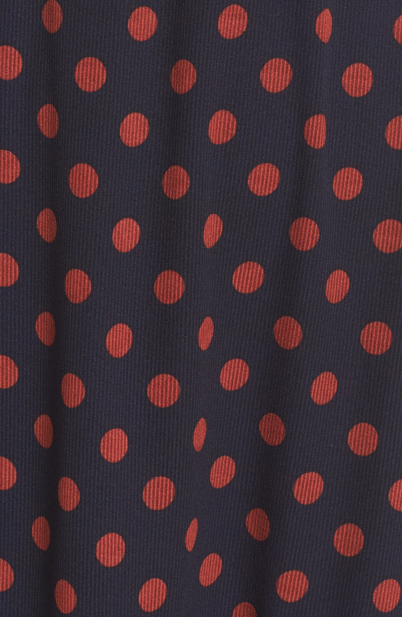 Dot Ruffle Maxi Dress,                             Alternate thumbnail 5, color,                             419