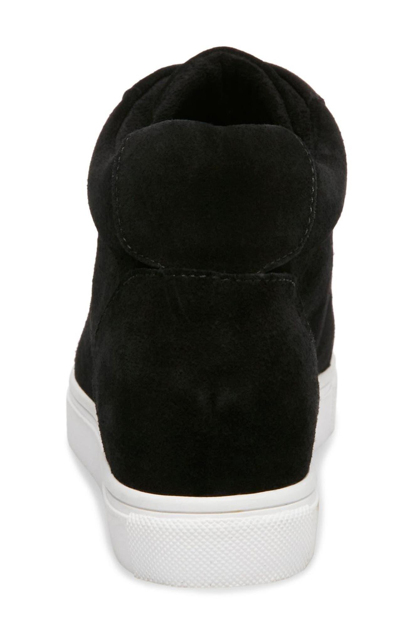 Glenda Waterproof Sneaker Bootie,                             Alternate thumbnail 6, color,                             BLACK SUEDE