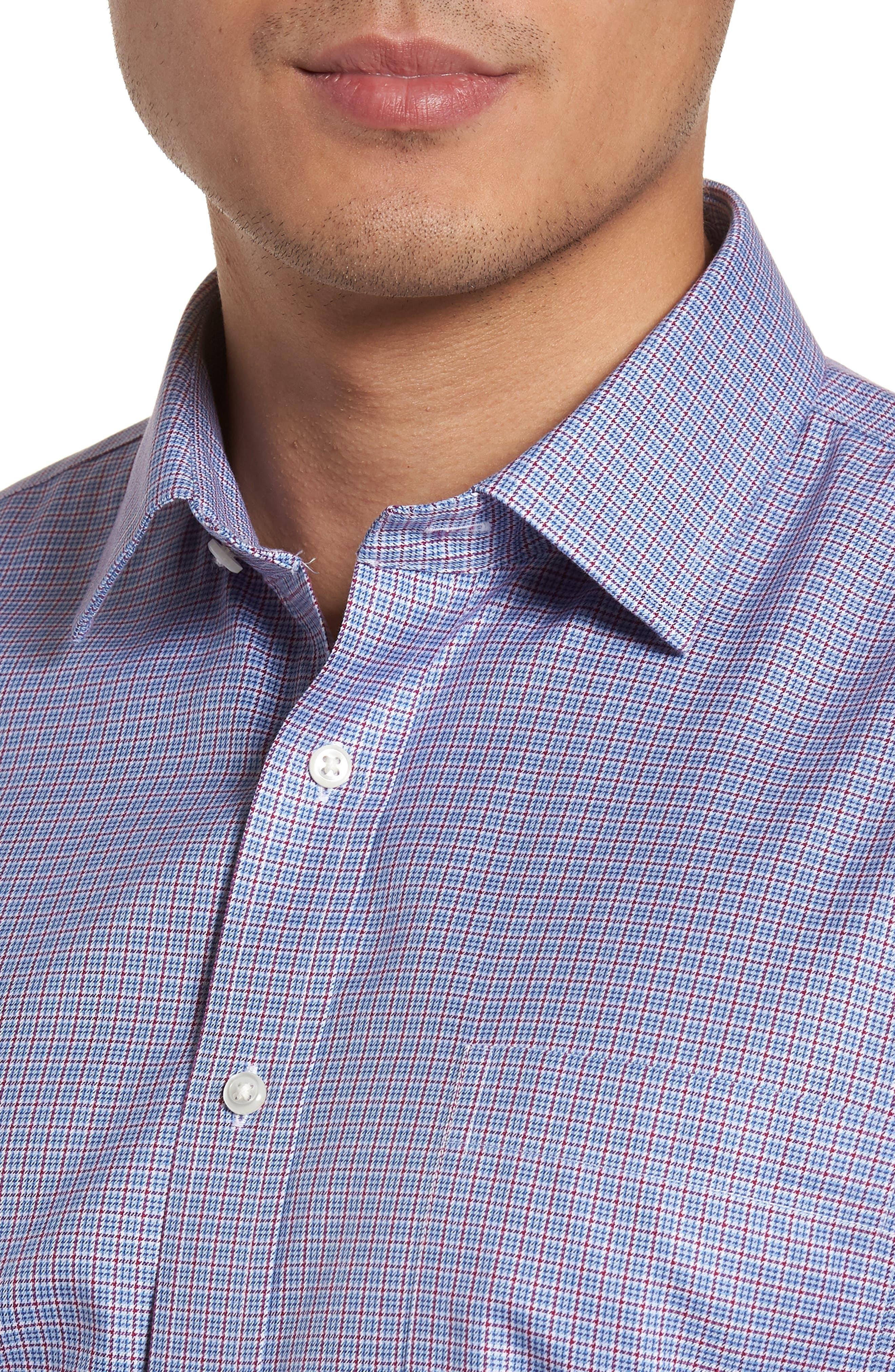 Smartcare<sup>™</sup> Trim Fit Check Dress Shirt,                             Alternate thumbnail 2, color,                             601
