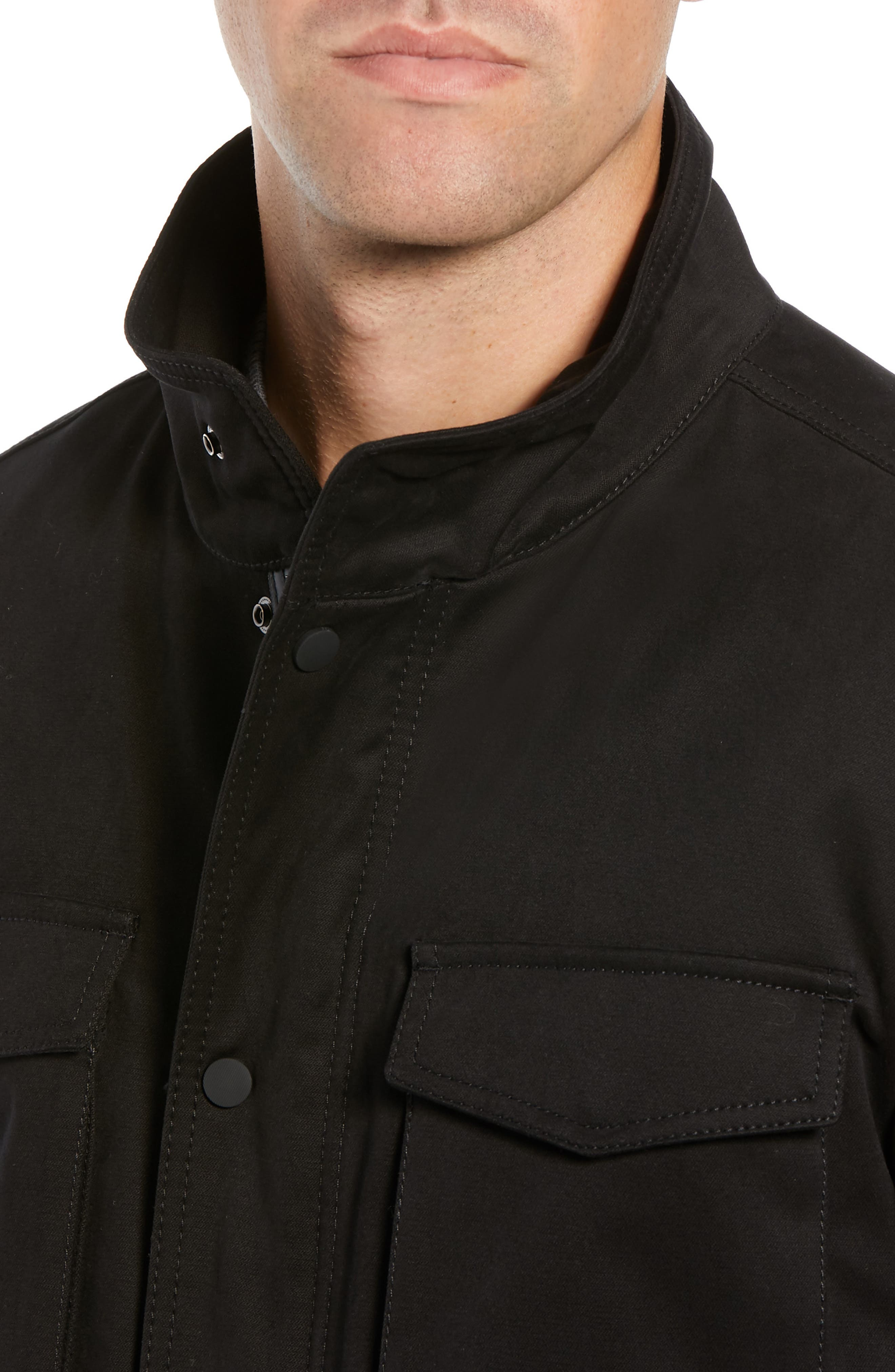 Oroy Regular Fit Field Jacket,                             Alternate thumbnail 4, color,                             BLACK