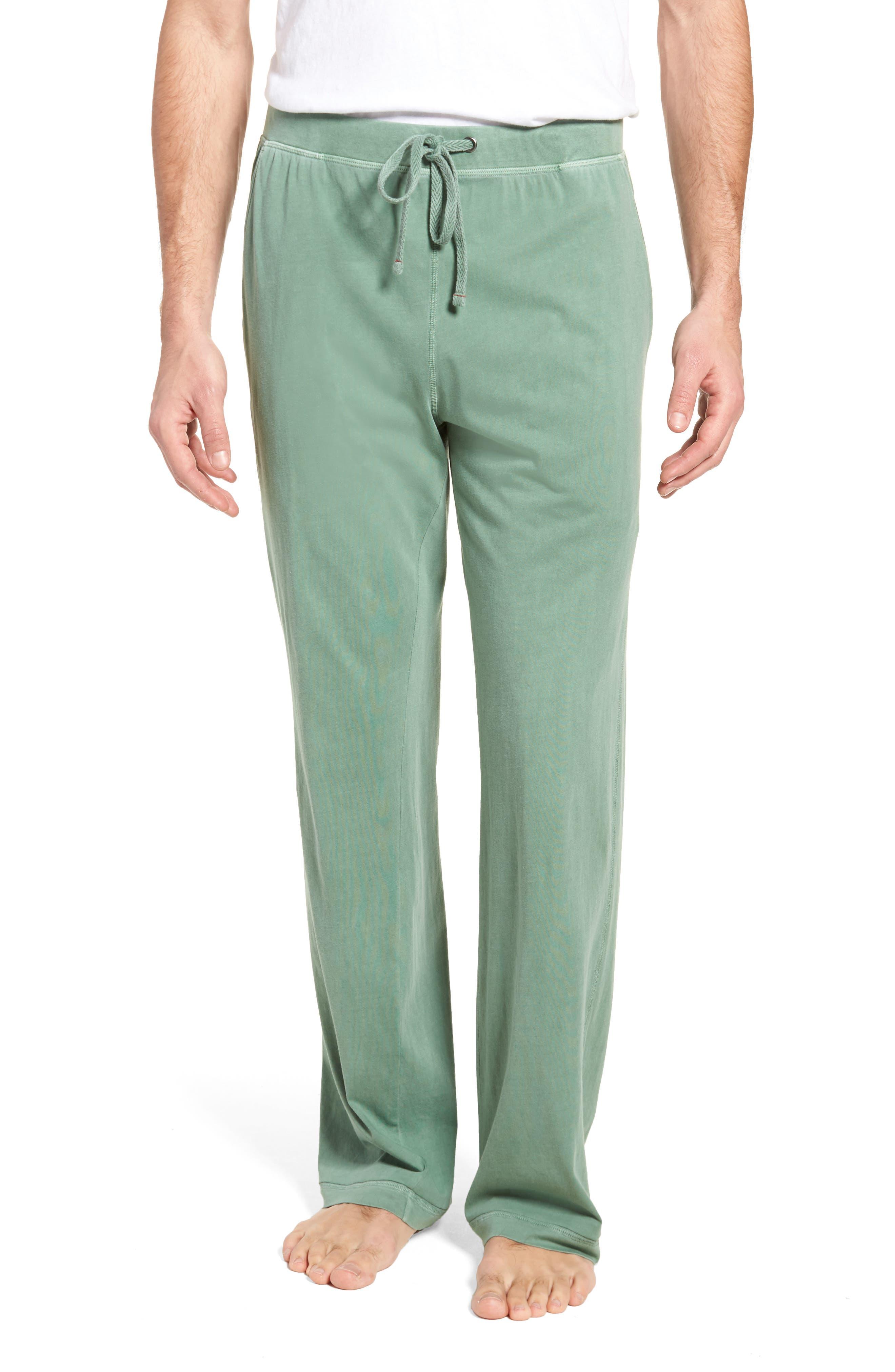 Peruvian Pima Cotton Lounge Pants,                         Main,                         color, MOSS