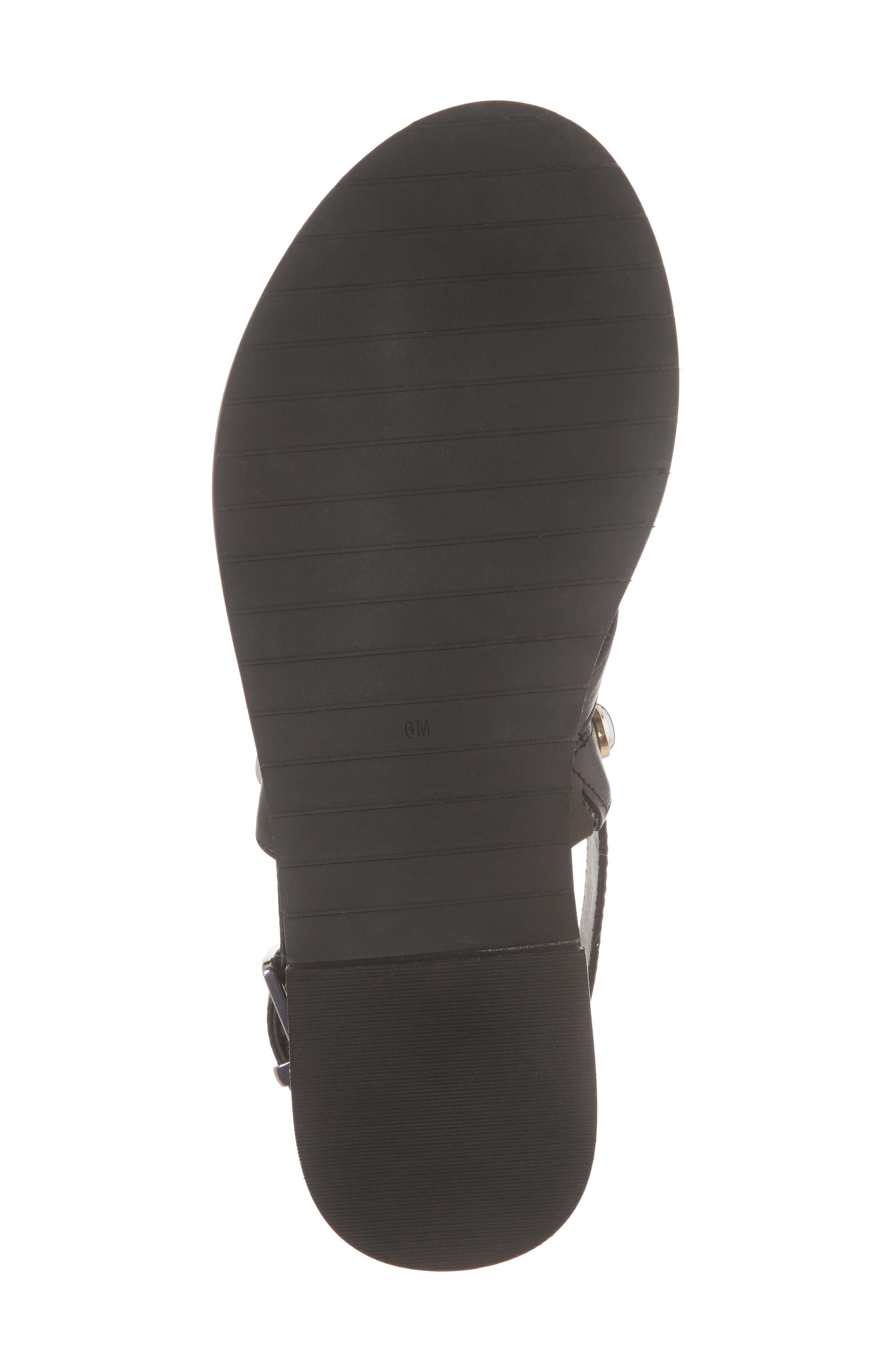 Tama Studded Sandal,                             Alternate thumbnail 6, color,                             001