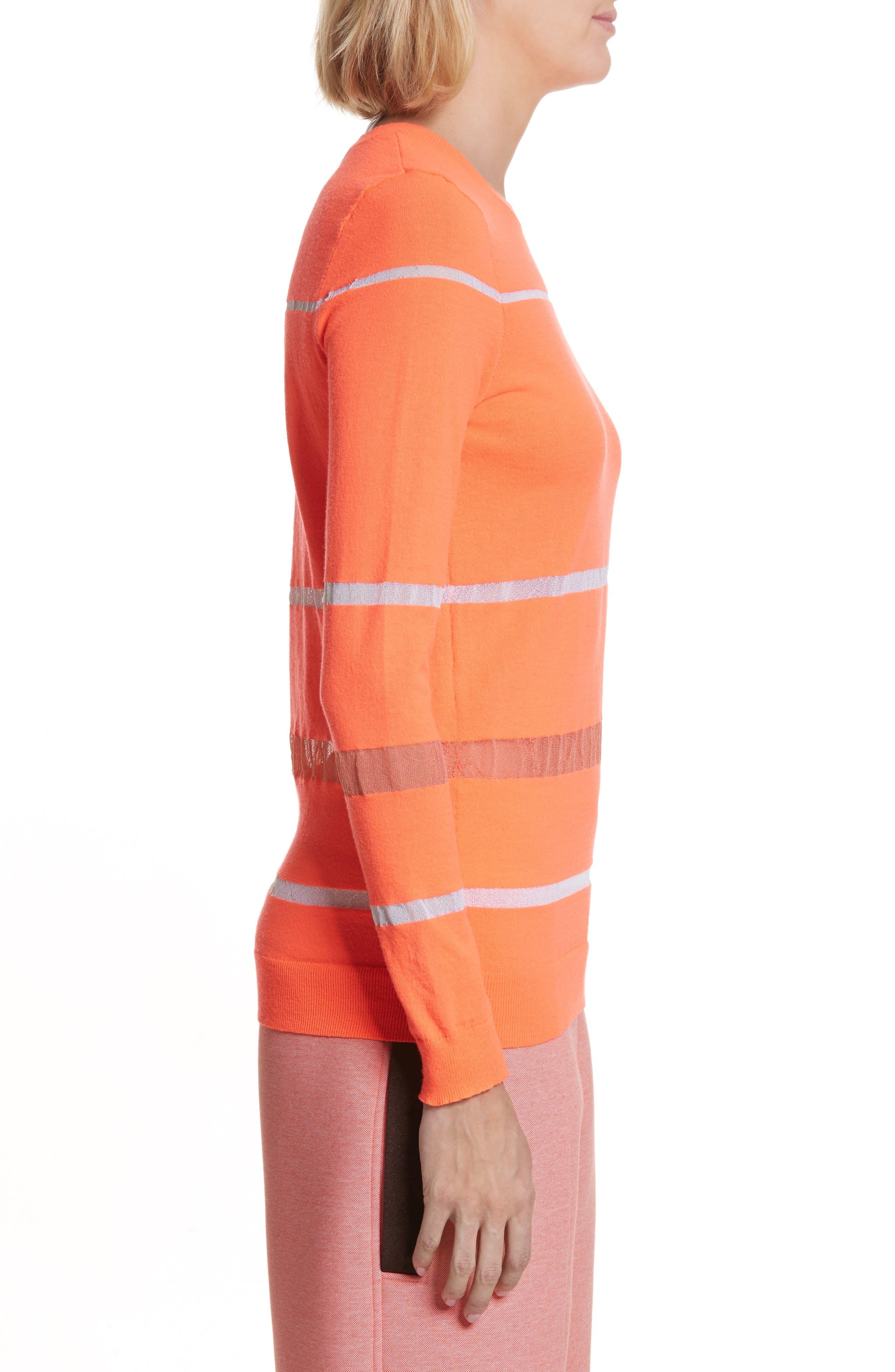 Illusion Stripe Crewneck Sweater,                             Alternate thumbnail 3, color,                             850