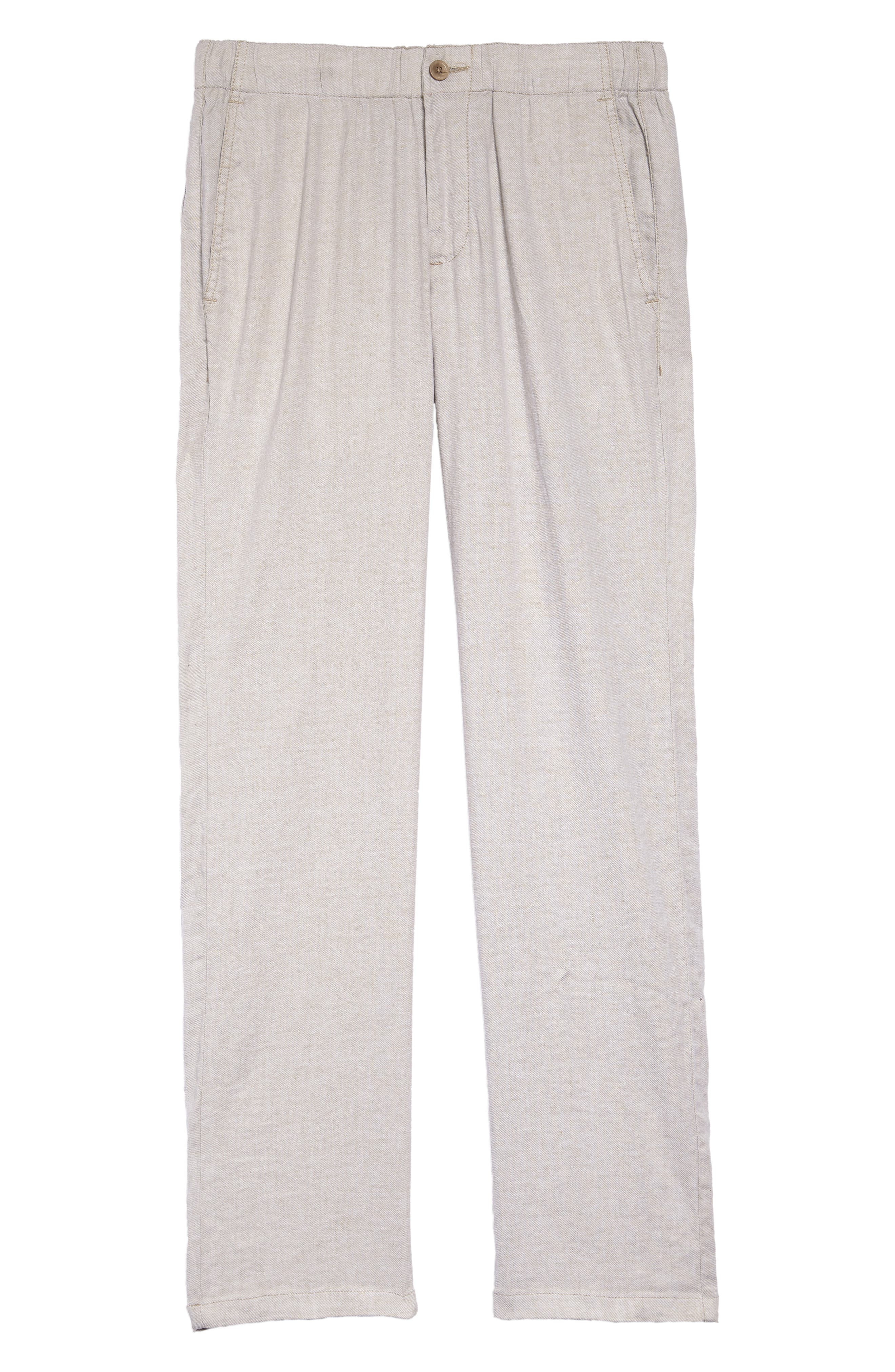 Relaxed Linen Pants,                             Alternate thumbnail 2, color,                             STONE KHAKI