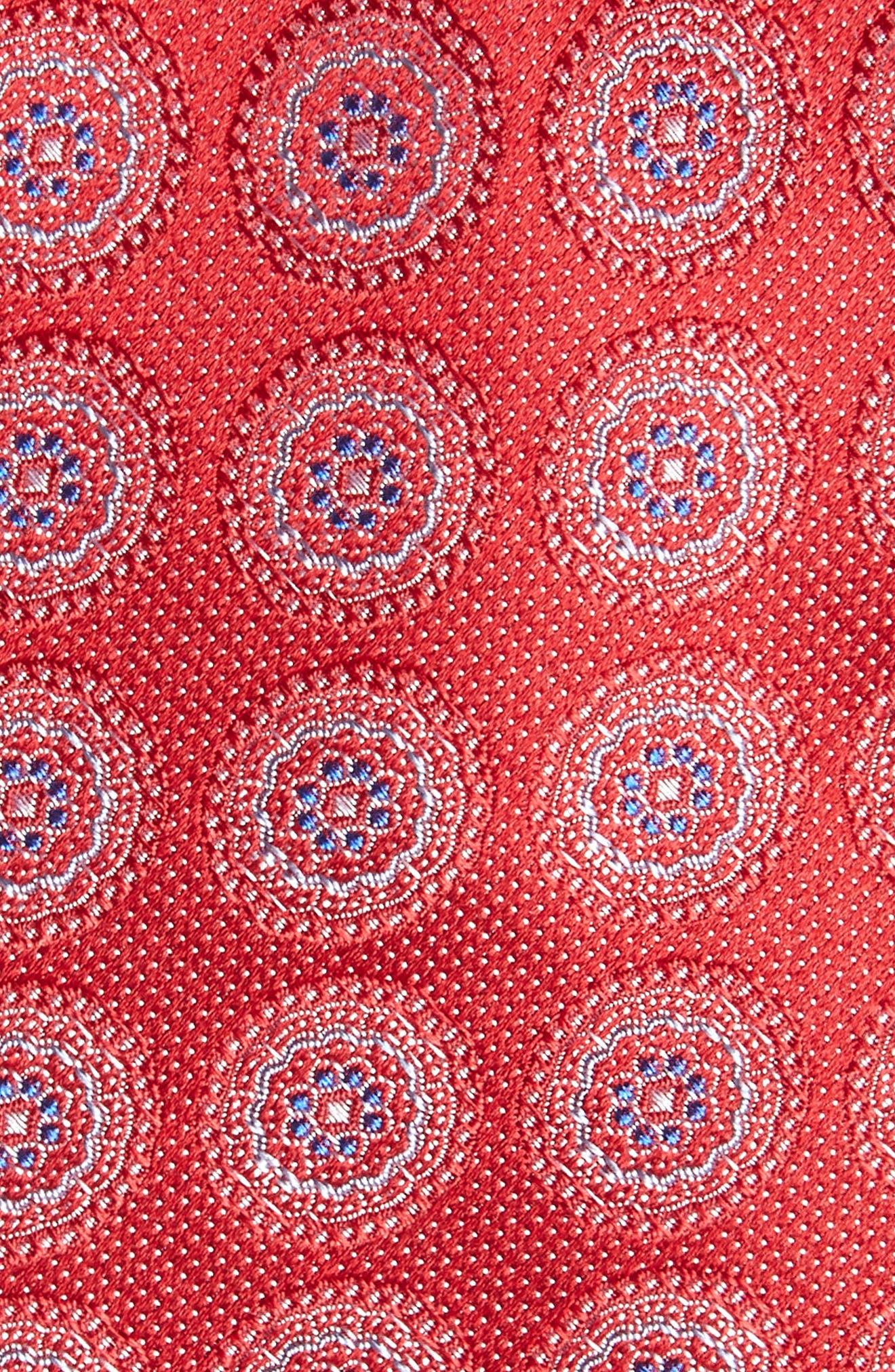 Pinpoint Medallion Silk Tie,                             Alternate thumbnail 10, color,