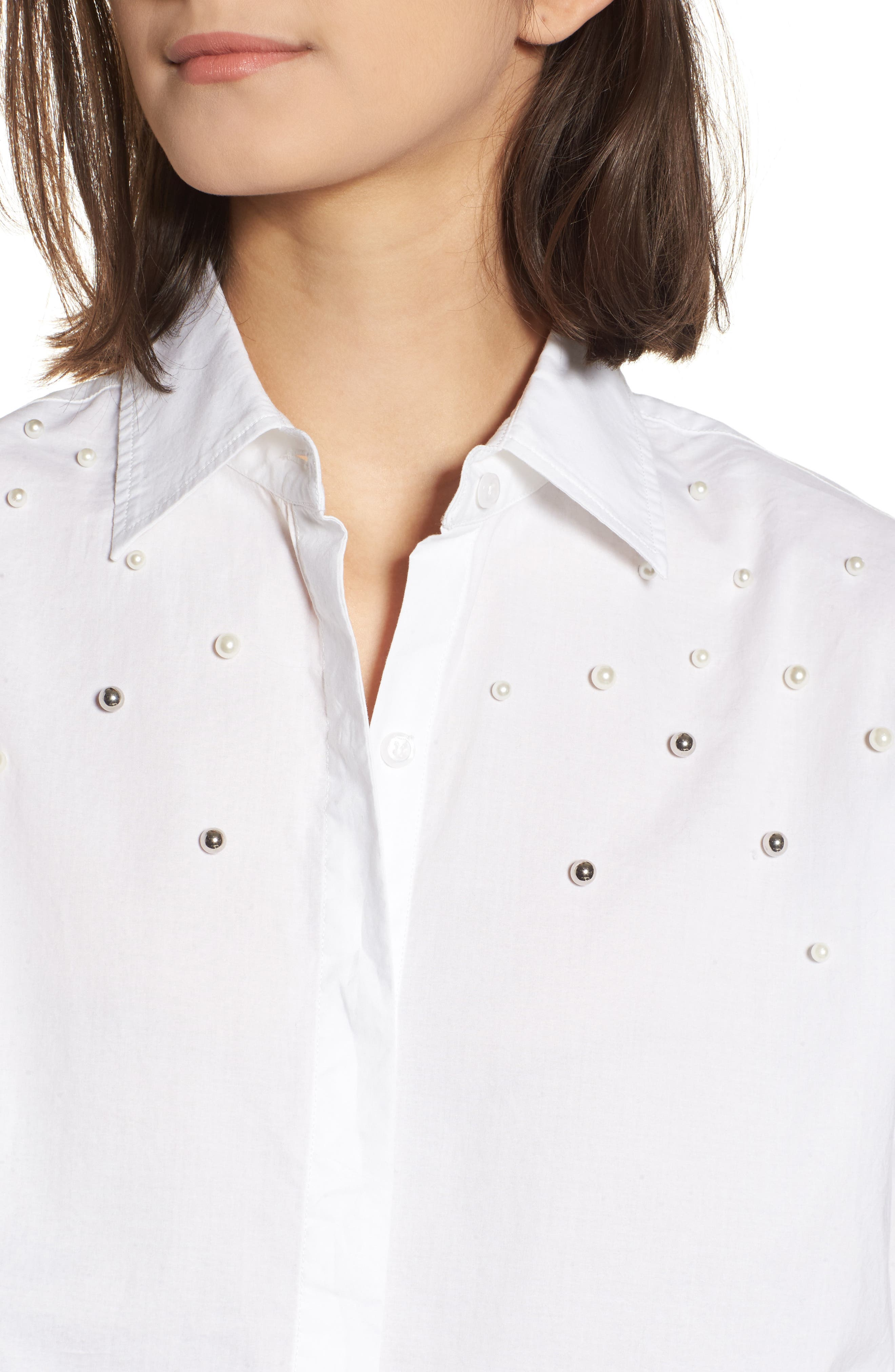Taylor Beaded Shirt,                             Alternate thumbnail 4, color,                             100