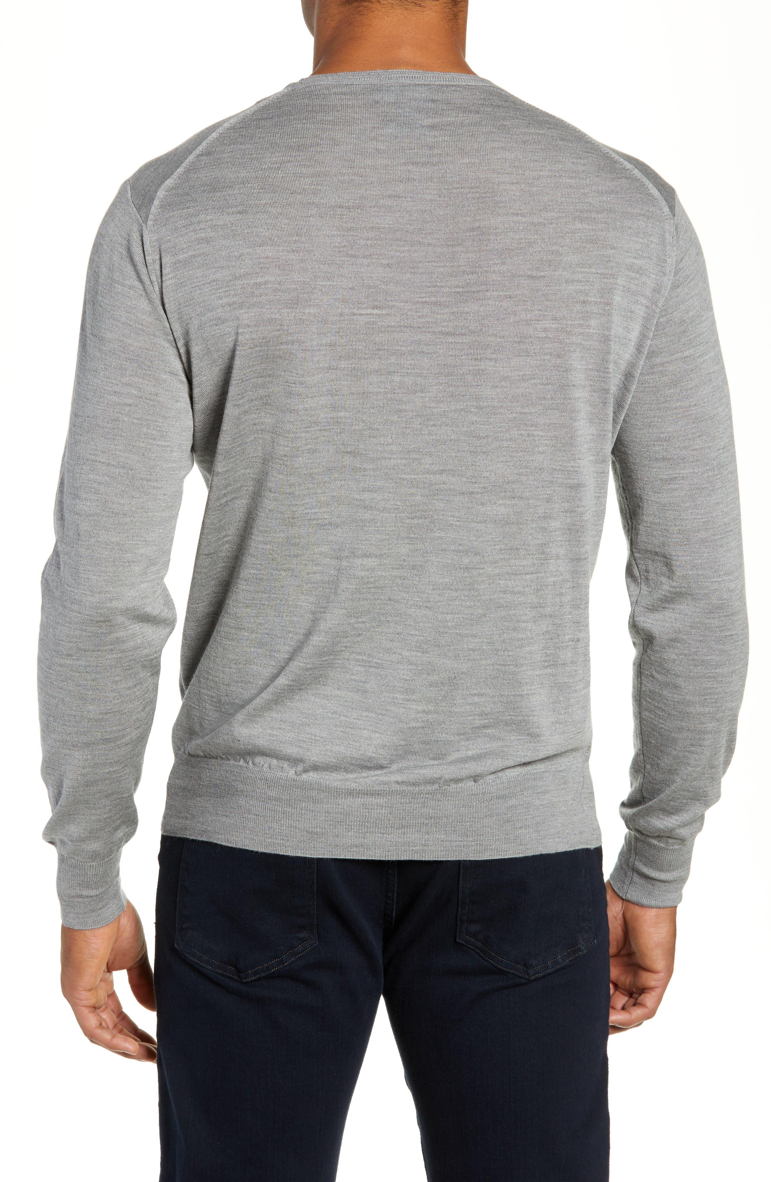 Merino Wool & Silk Crewneck Sweater,                             Alternate thumbnail 2, color,                             036