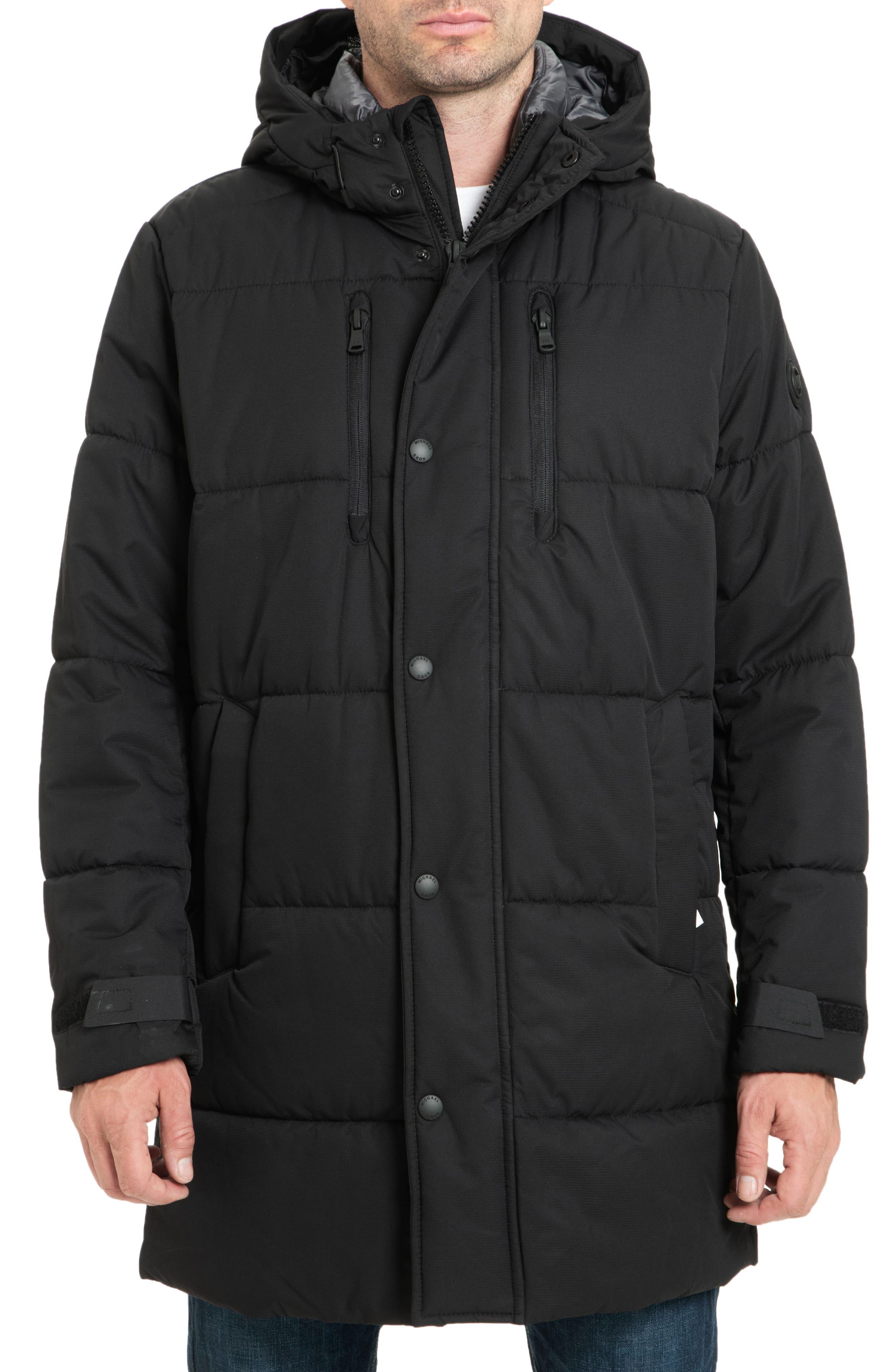 Holland Hooded Coat,                         Main,                         color, BLACK