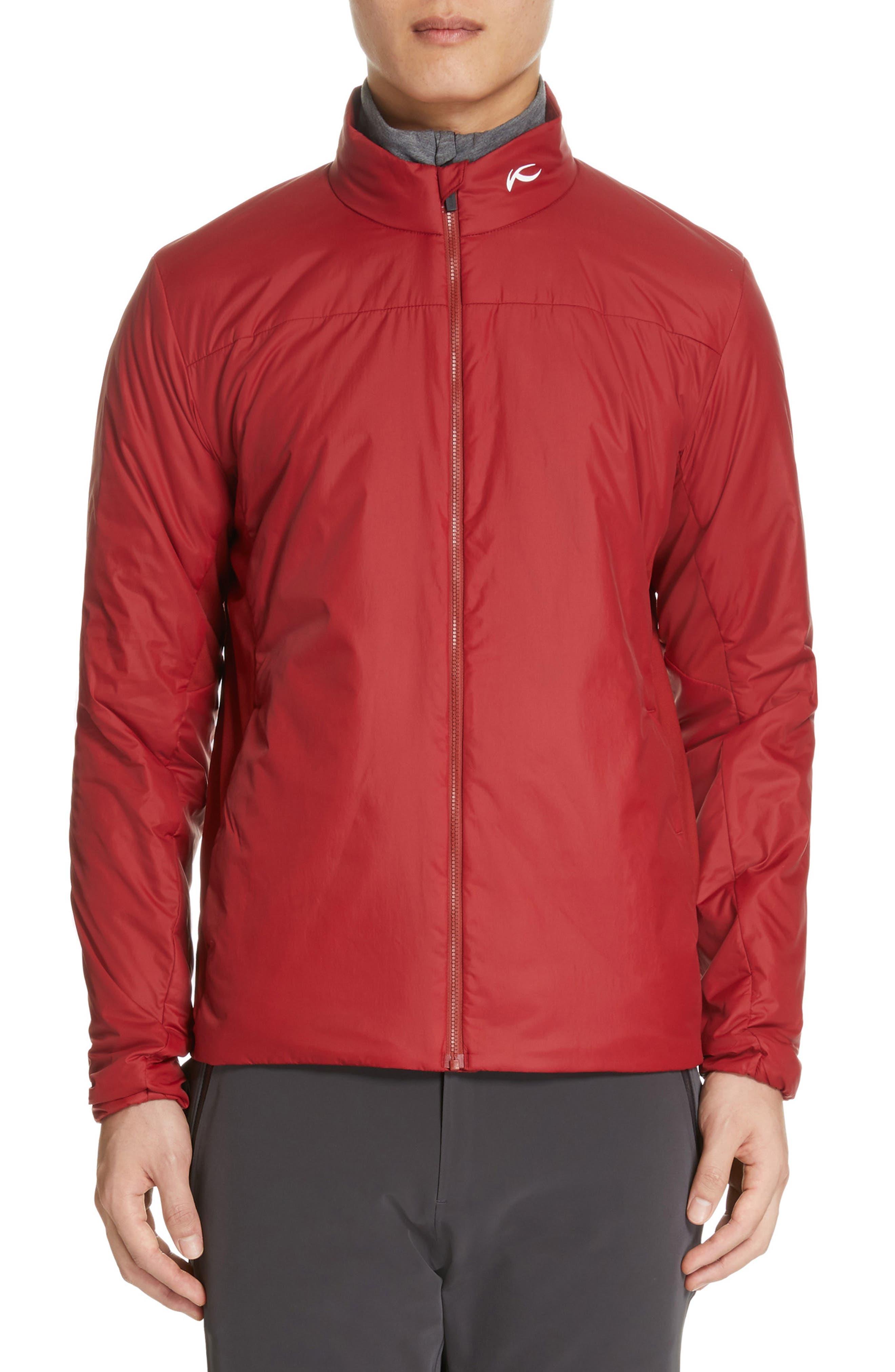 Radiation Waterproof Jacket,                             Alternate thumbnail 2, color,                             RED DAHLIA