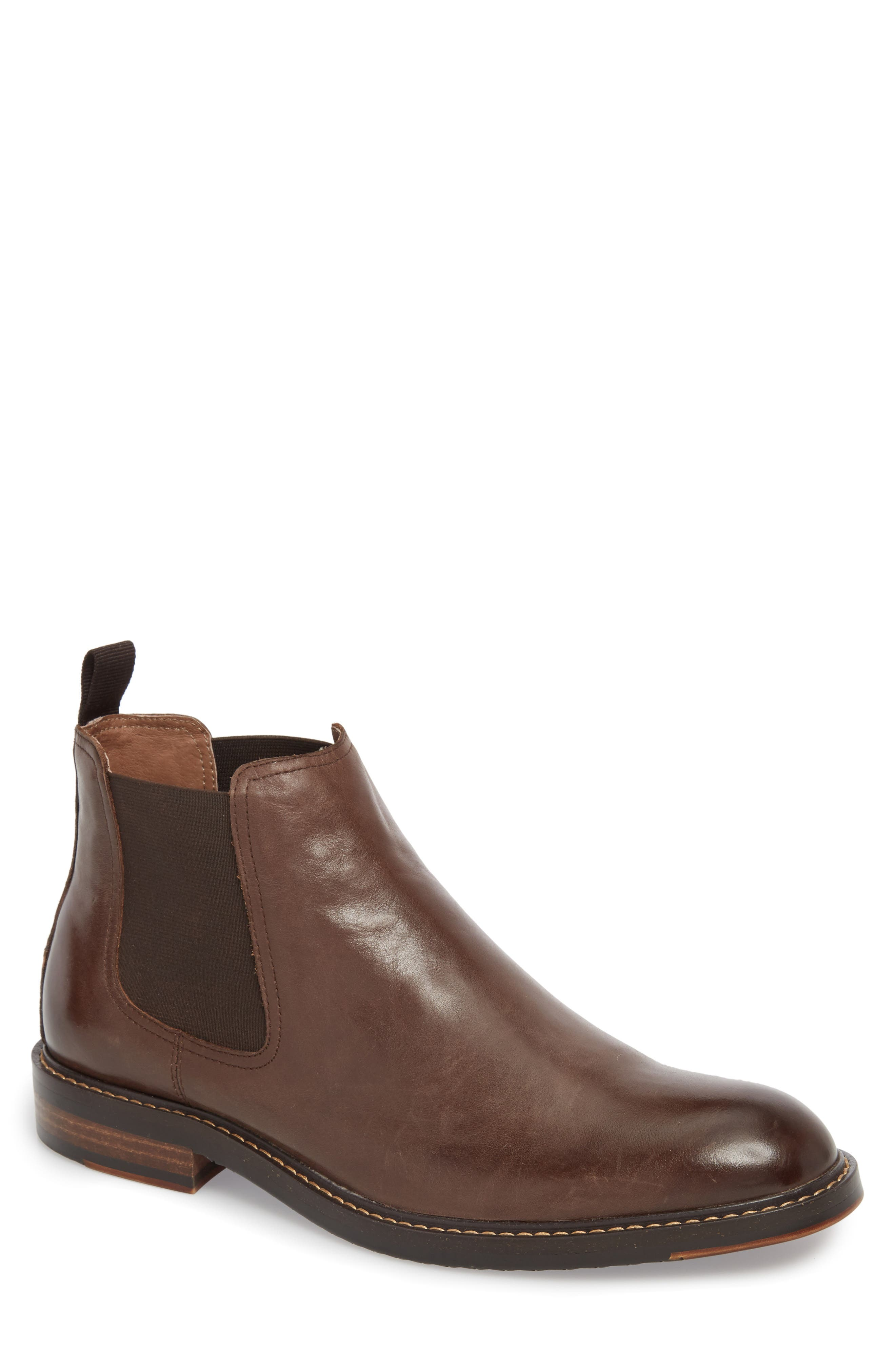 Brooks Chelsea Boot,                         Main,                         color, BROWN LEATHER