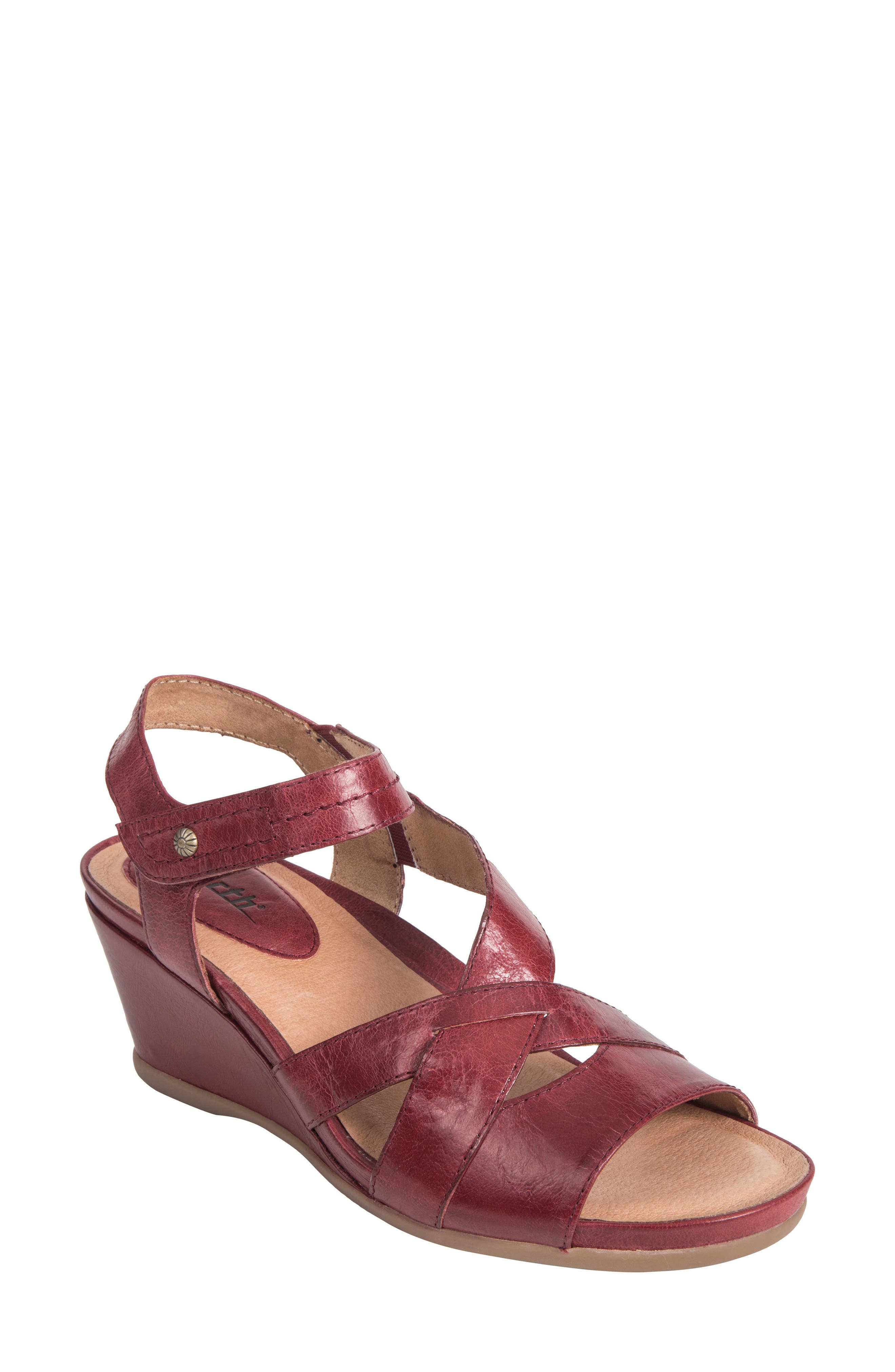 Thistle Wedge Sandal,                             Main thumbnail 3, color,