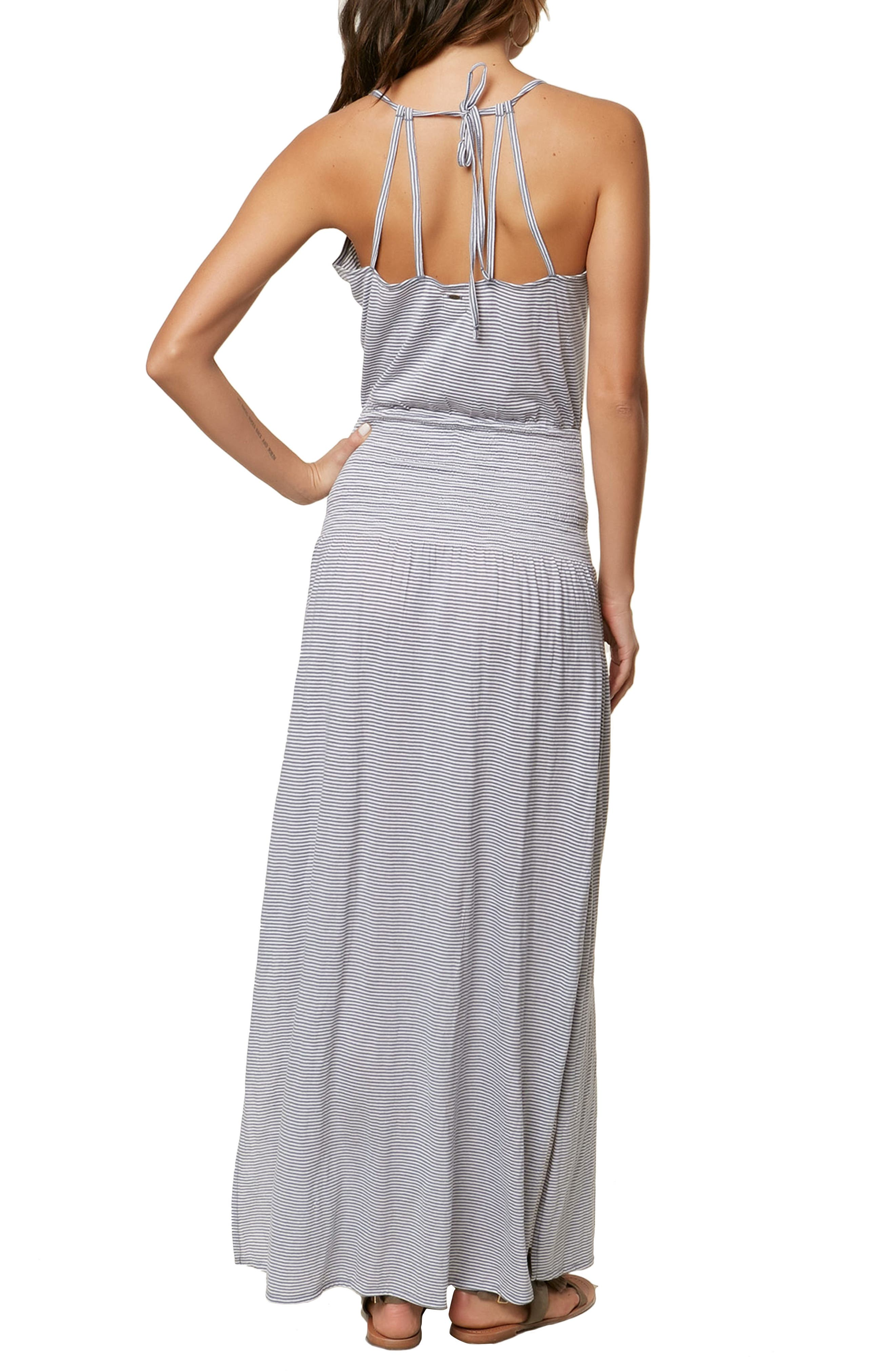 Gwen Stripe Knit Maxi Dress,                             Alternate thumbnail 2, color,                             FLINTSTONE