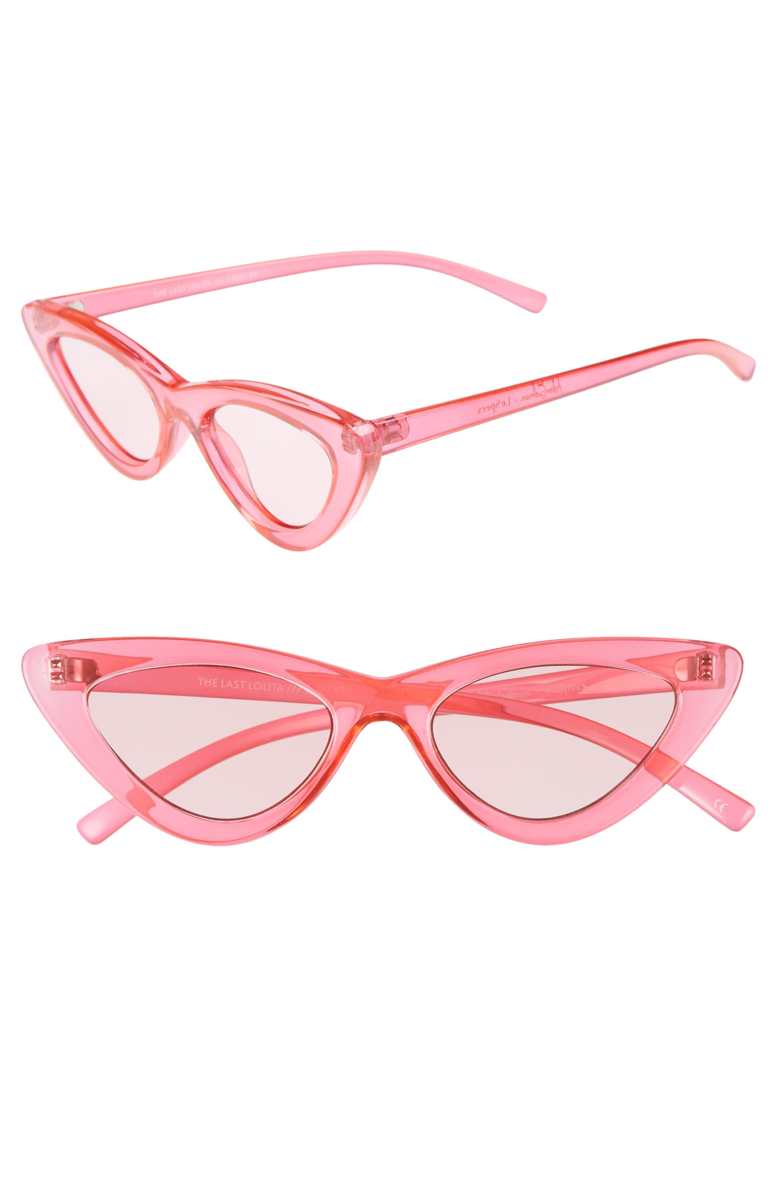 Adam Selman X Le Specs Luxe Lolita 4m Cat Eye Sunglasses - Hot Pink