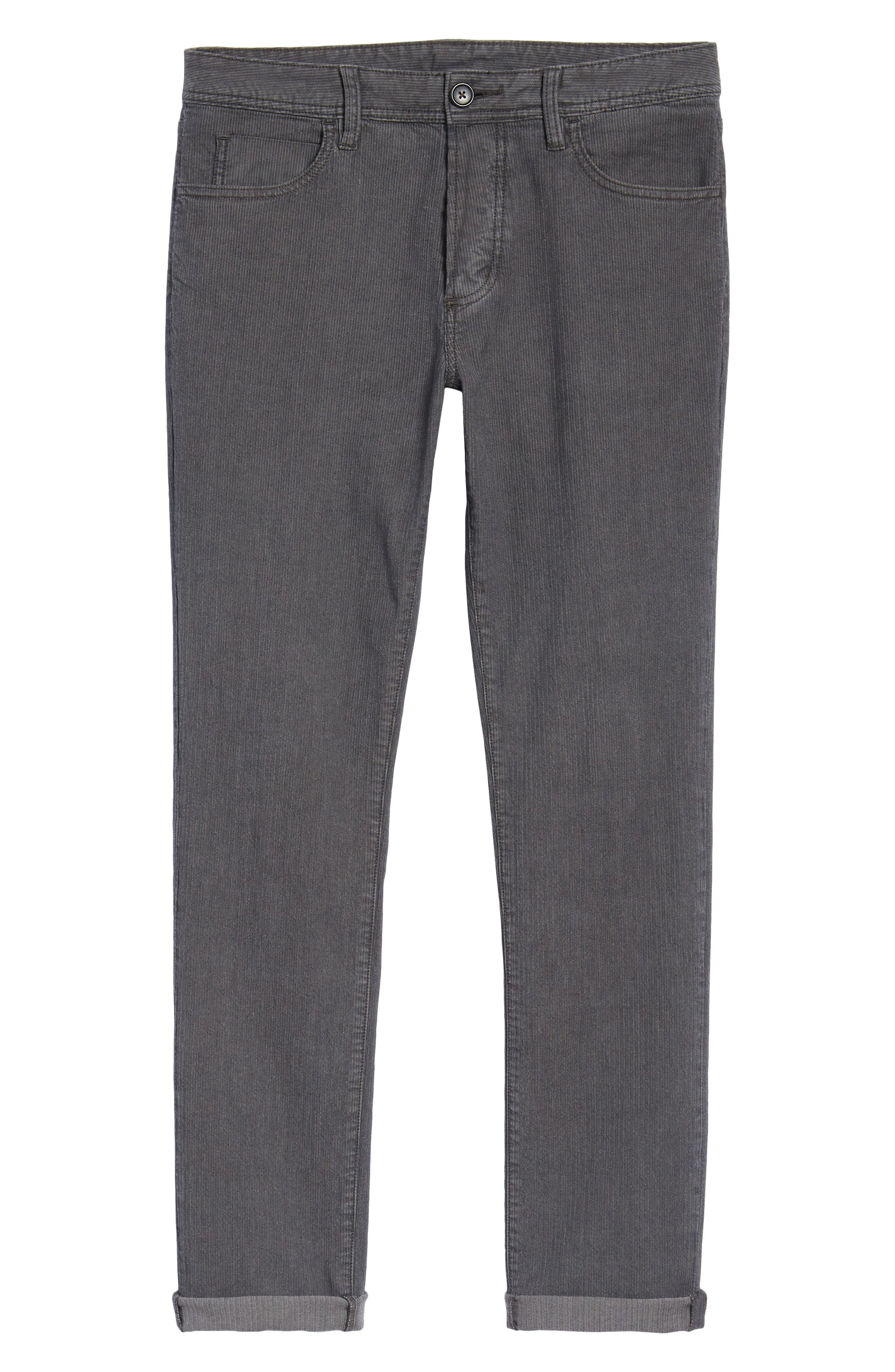 Slim Fit Stretch Herringbone Pants,                             Alternate thumbnail 6, color,