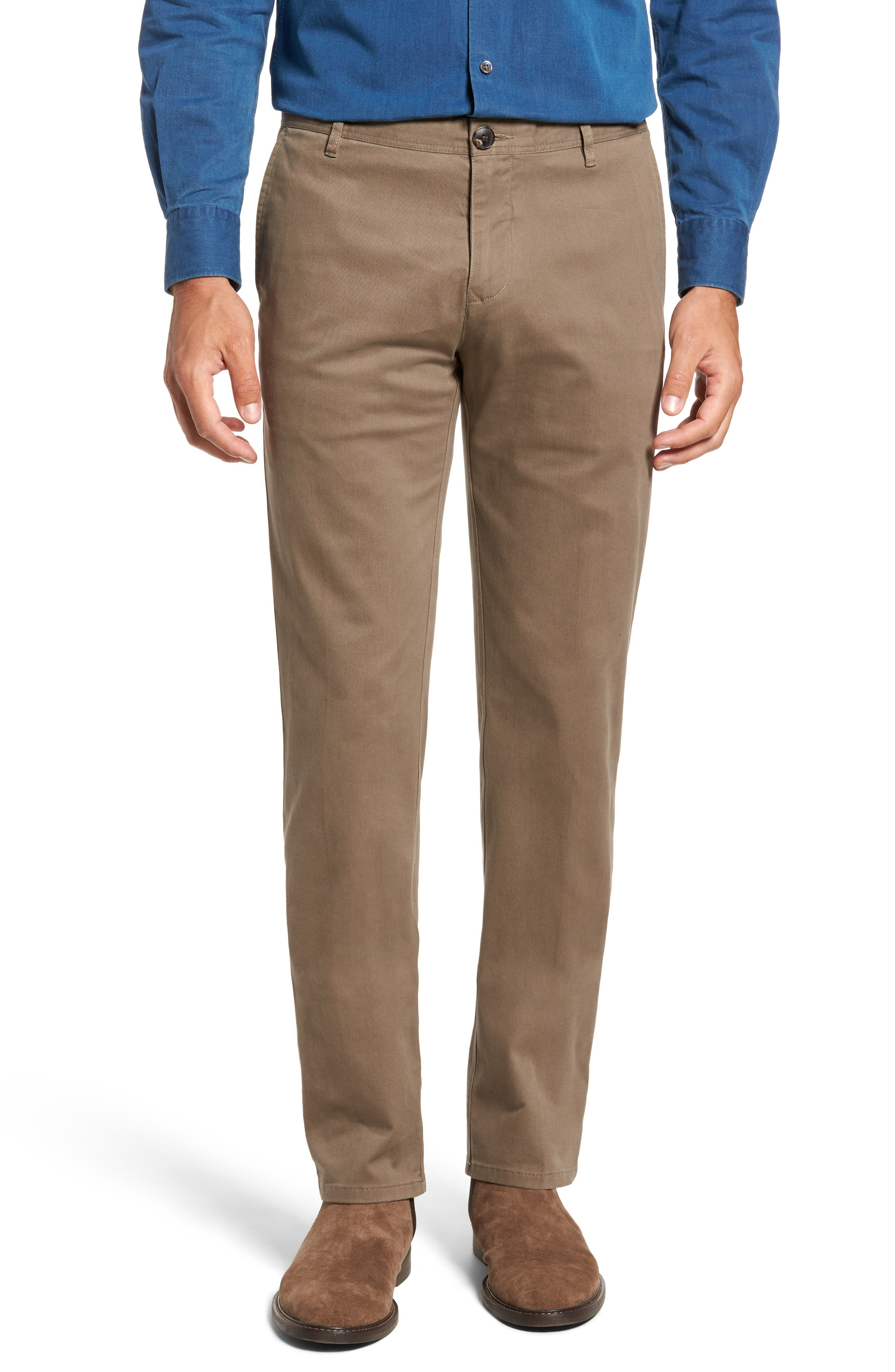 Stanely Brook Custom Fit Chinos,                             Main thumbnail 1, color,                             TAUPE