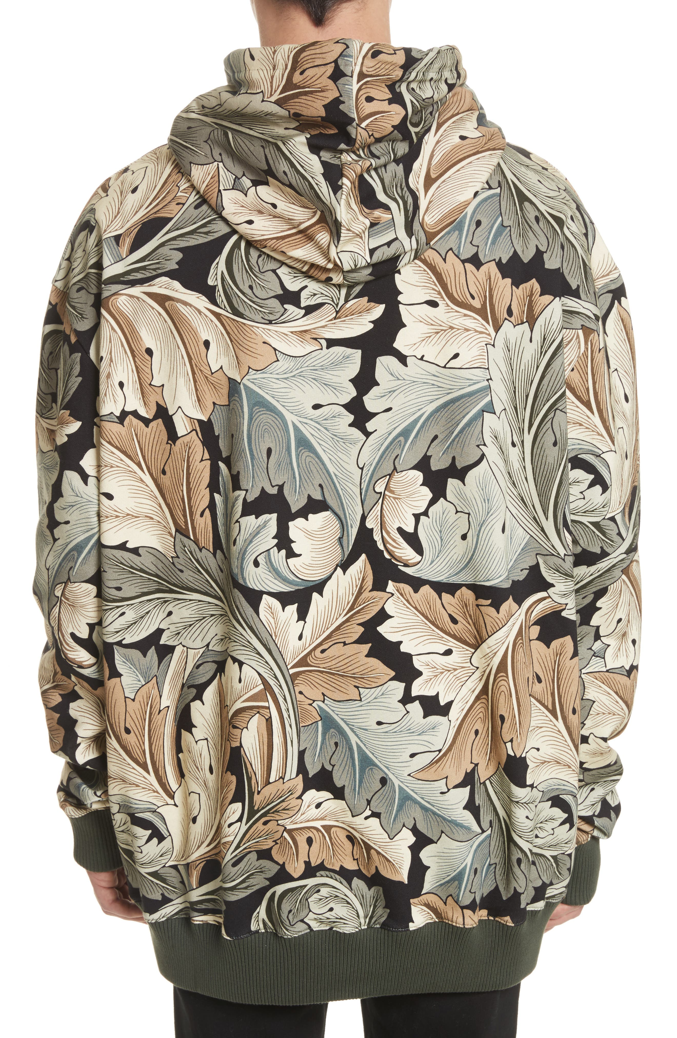 William Morris Print Oversize Hoodie,                             Alternate thumbnail 2, color,                             100