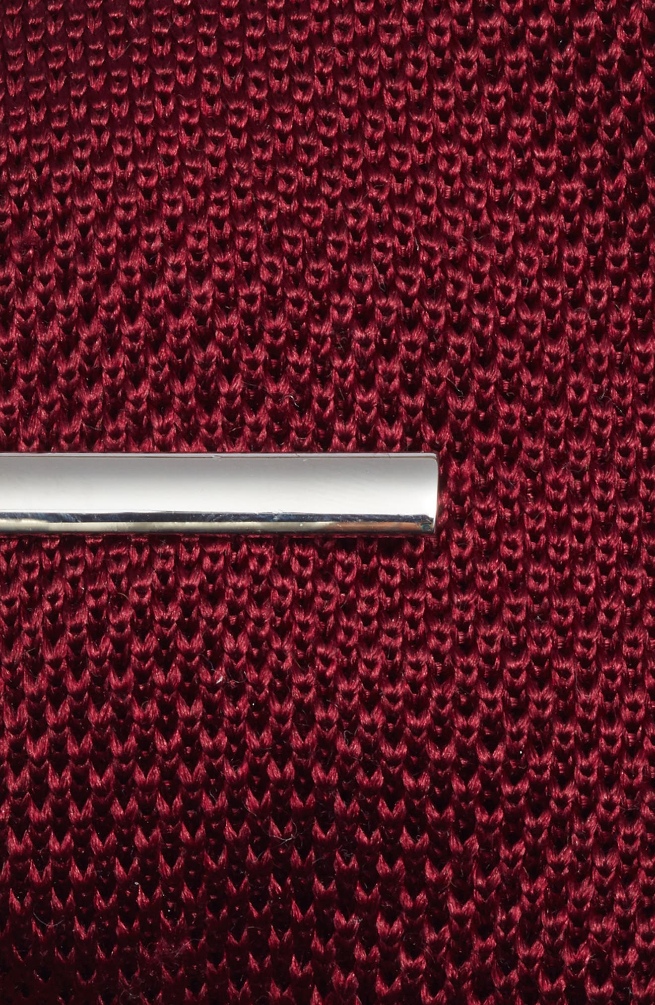 Pointed Tip 3-Piece Knit Tie Style Box,                             Alternate thumbnail 3, color,                             BURGUNDY