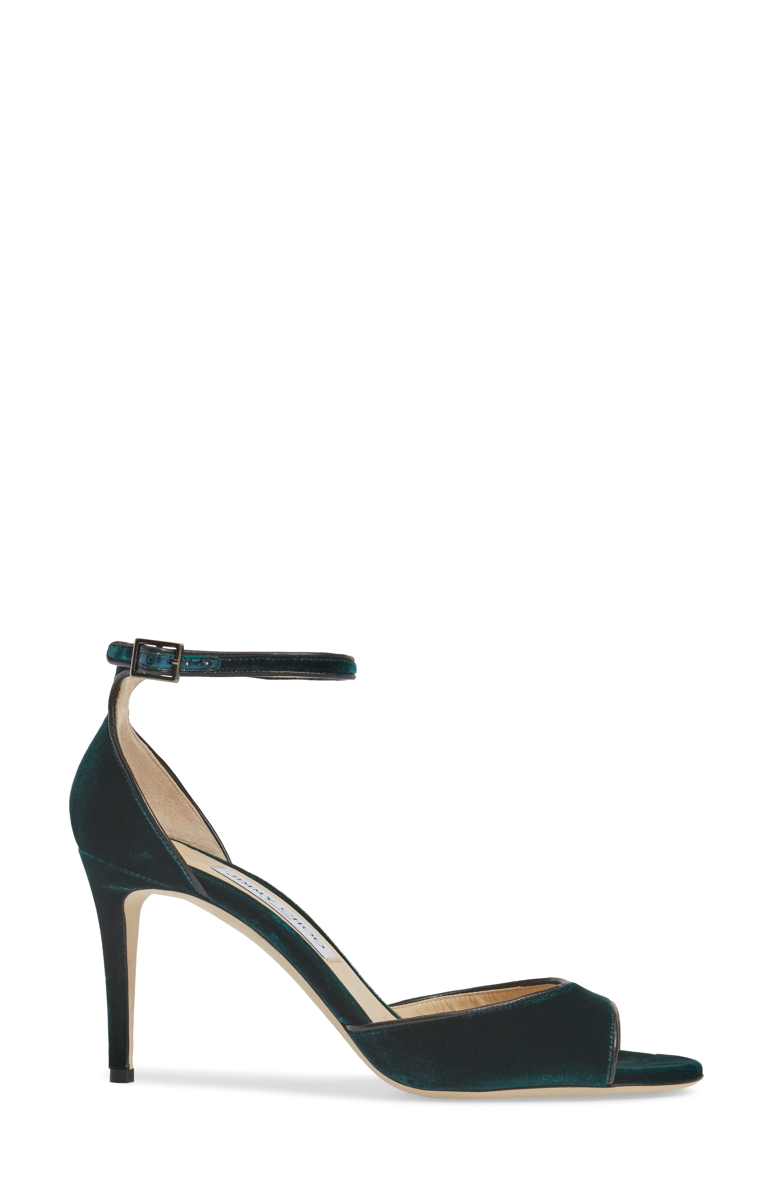JIMMY CHOO,                             Annie Ankle Strap Sandal,                             Alternate thumbnail 3, color,                             300
