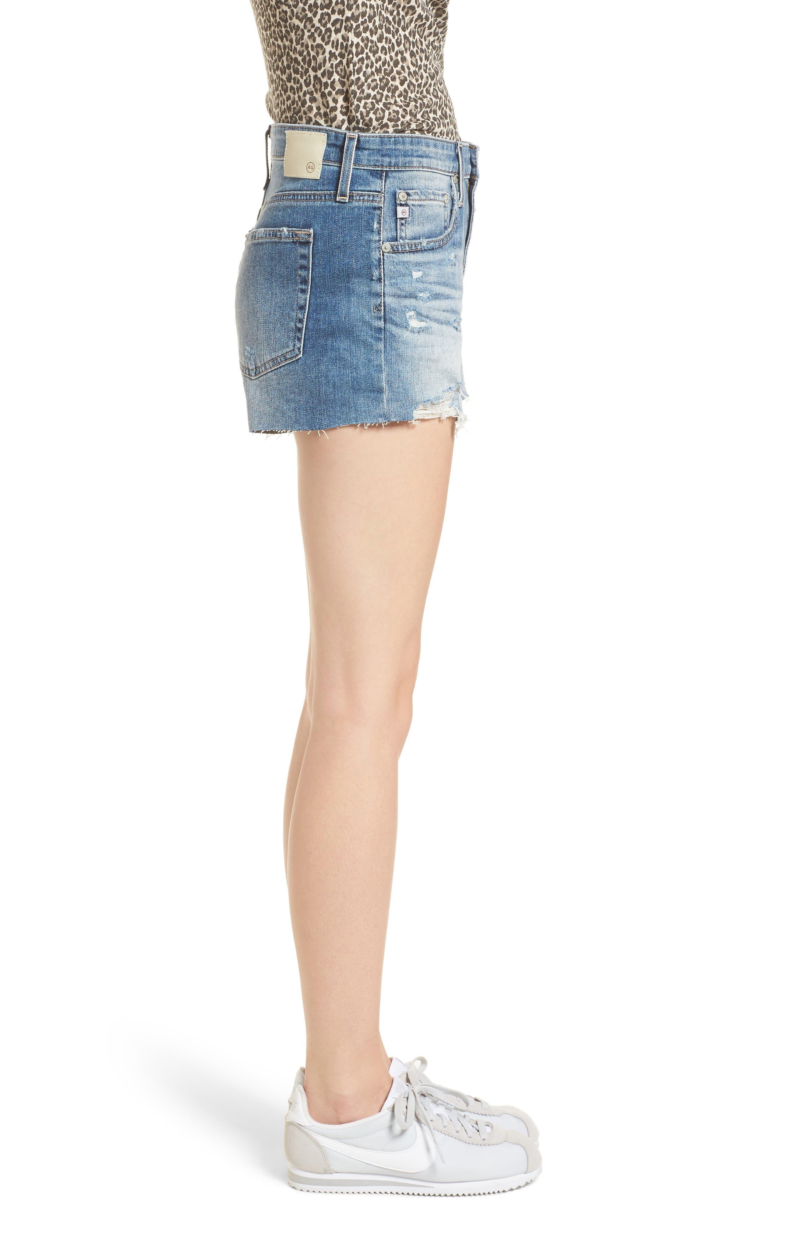 The Bryn High Waist Cutoff Denim Shorts,                             Alternate thumbnail 3, color,                             467