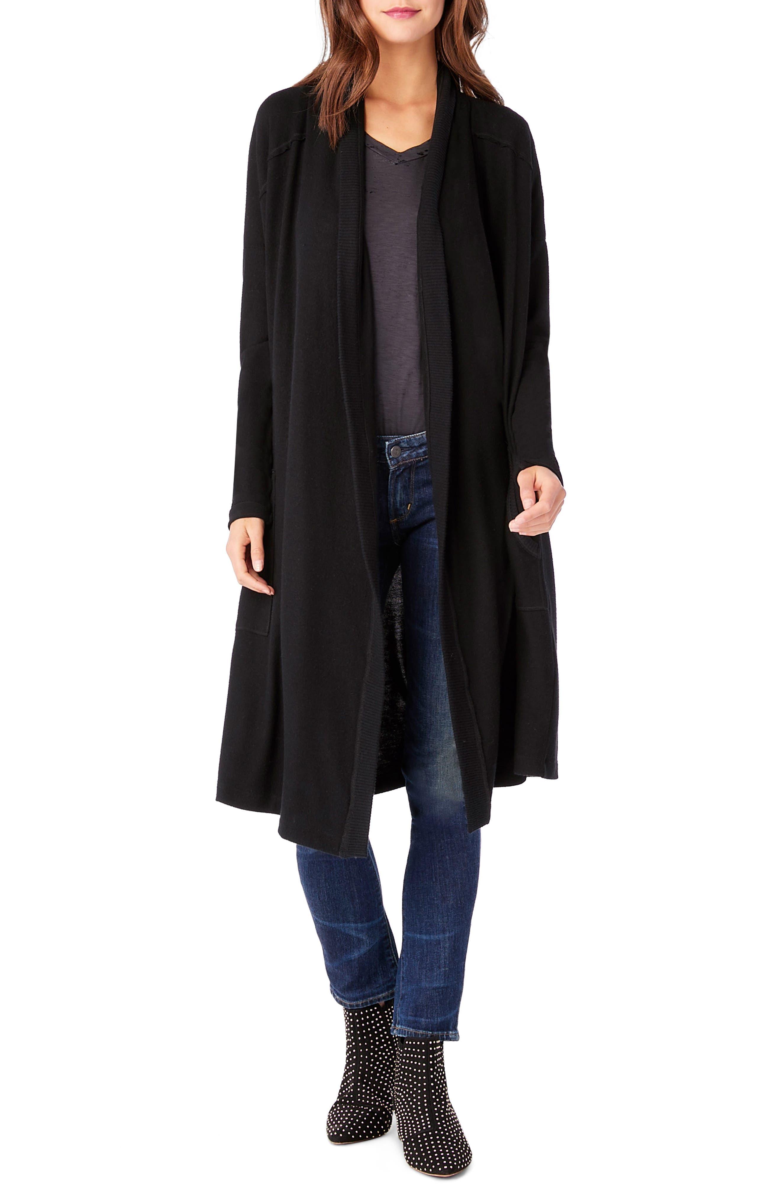 Long Sleeve Shawl Collar Cardigan,                         Main,                         color, 001