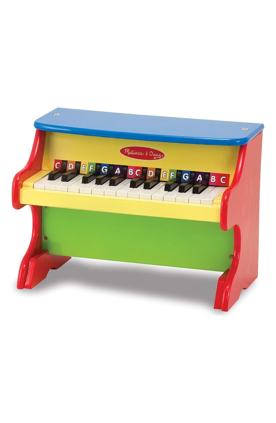 MELISSA & DOUG,                             'Learn-to-Play' Piano,                             Alternate thumbnail 2, color,                             YELLOW
