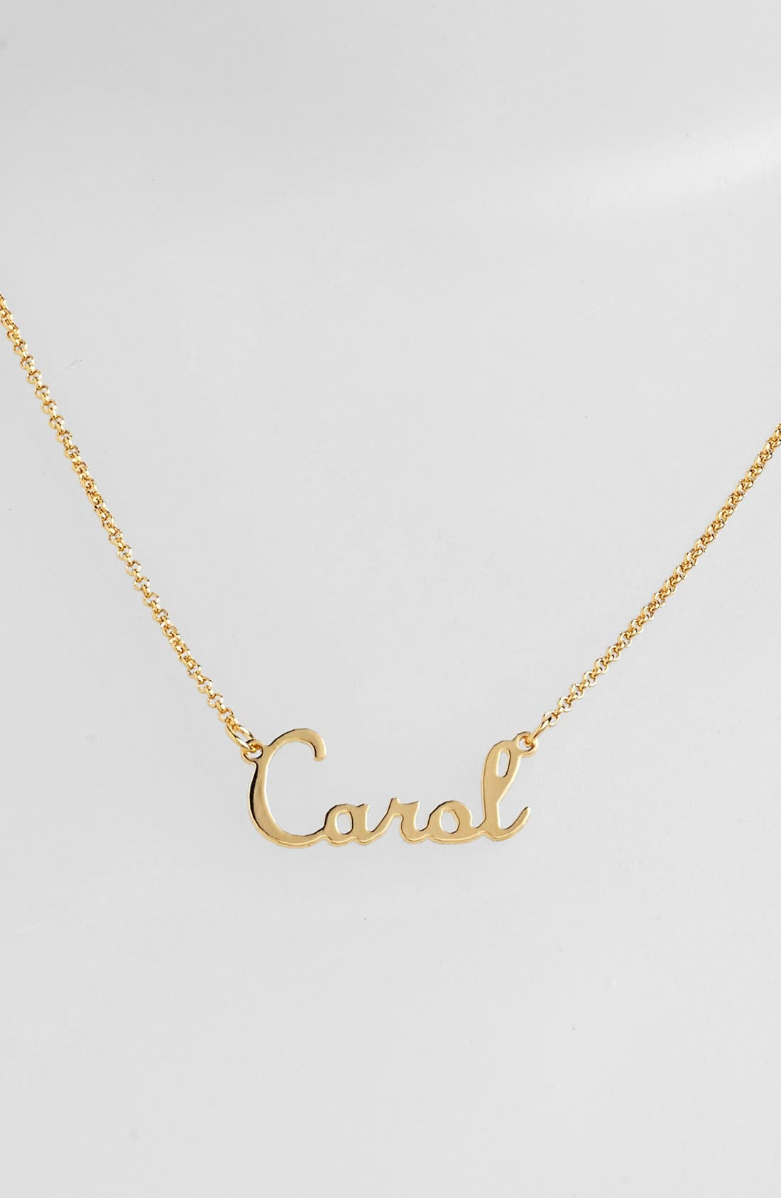 Personalized Script Name with Cross Necklace,                             Main thumbnail 1, color,                             GOLD