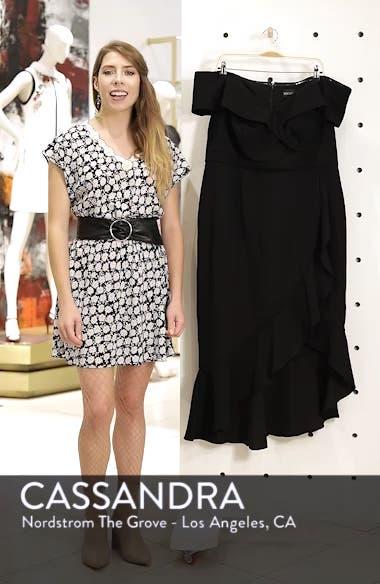 Off the Shoulder Ruffle Midi Dress, sales video thumbnail