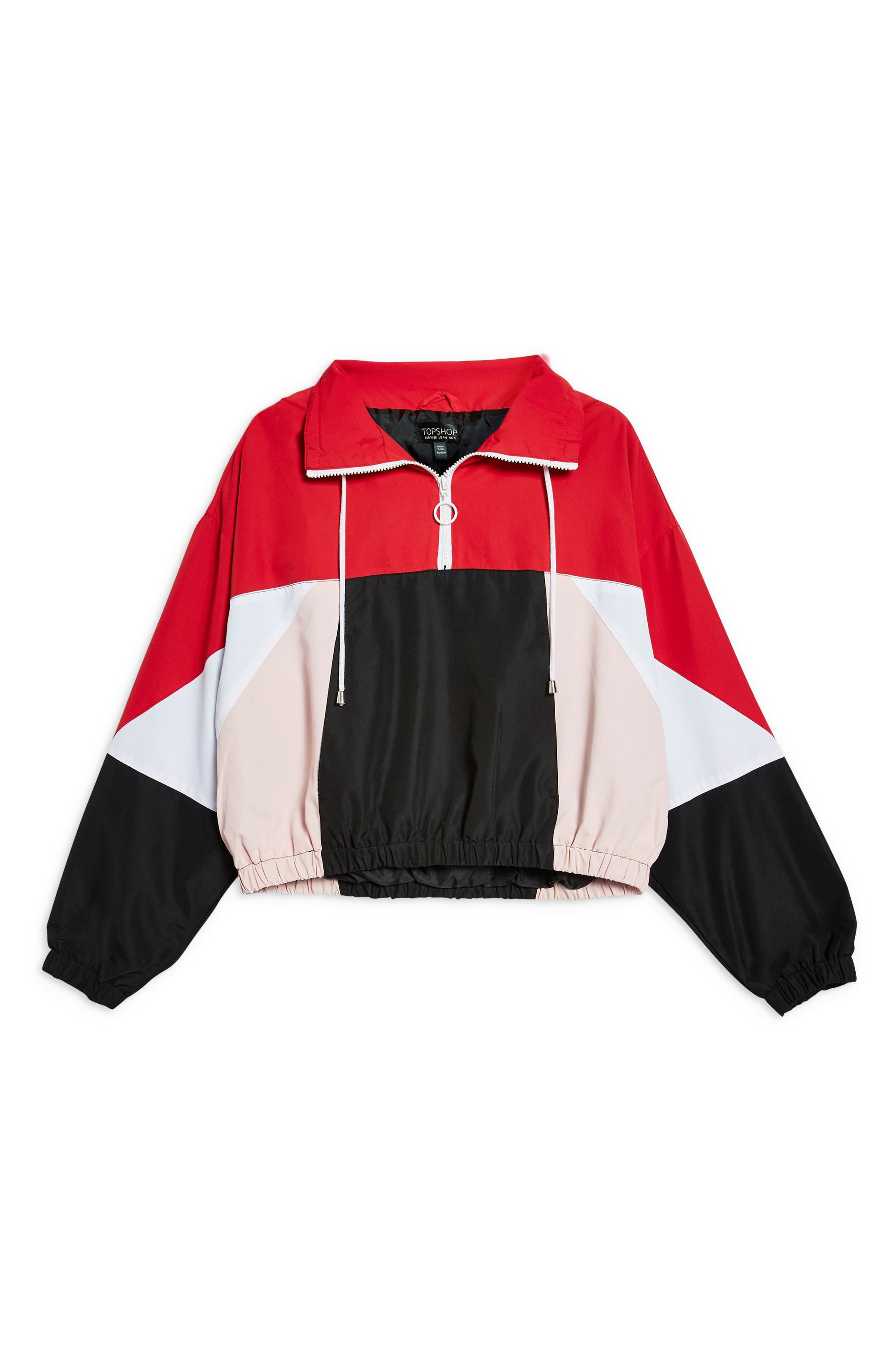 Overhead Colorblock Windbreaker Jacket,                             Alternate thumbnail 4, color,                             001