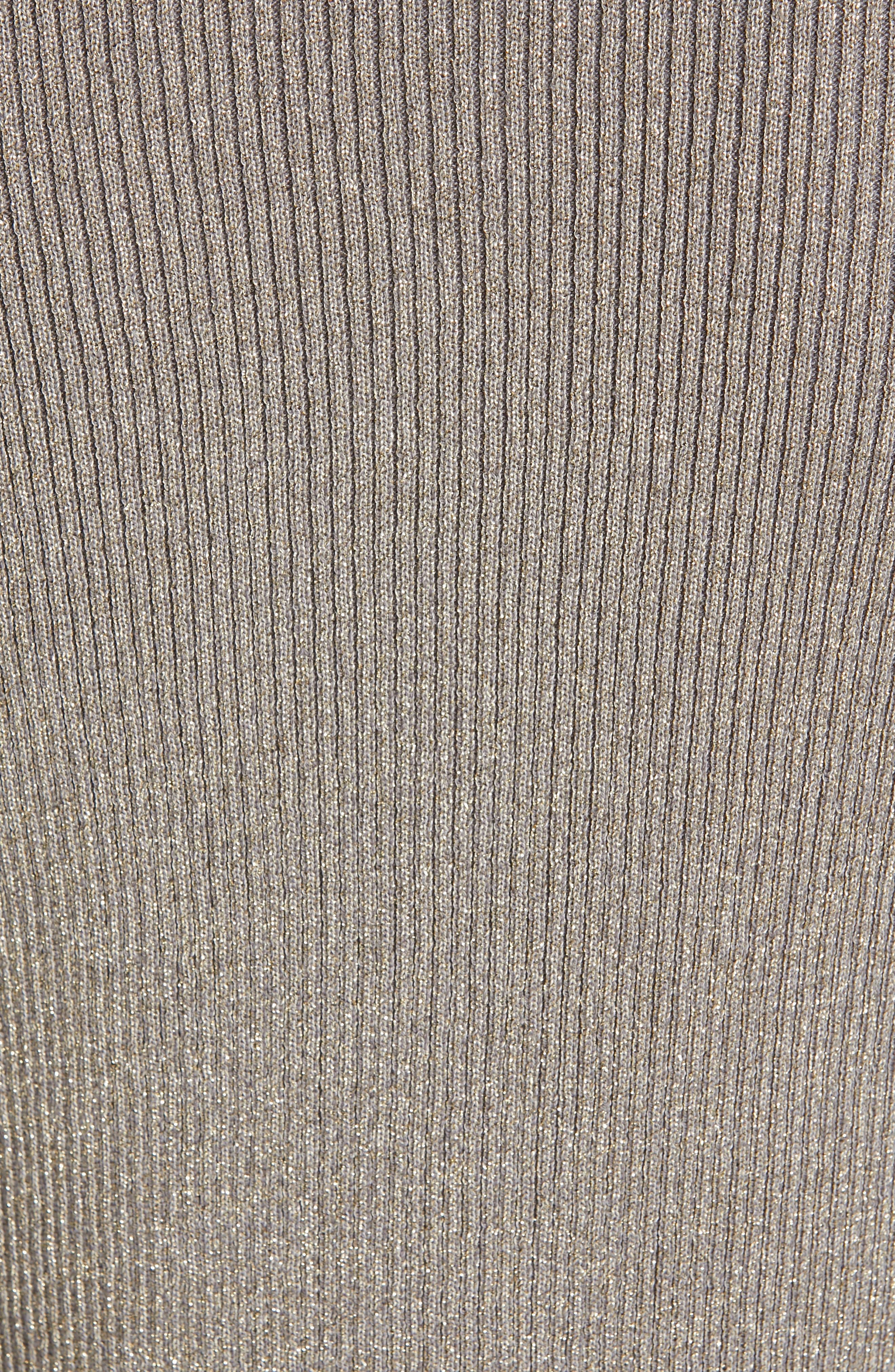 Saaydie Bow Trim Metallic Sweater,                             Alternate thumbnail 5, color,                             CHARCOAL