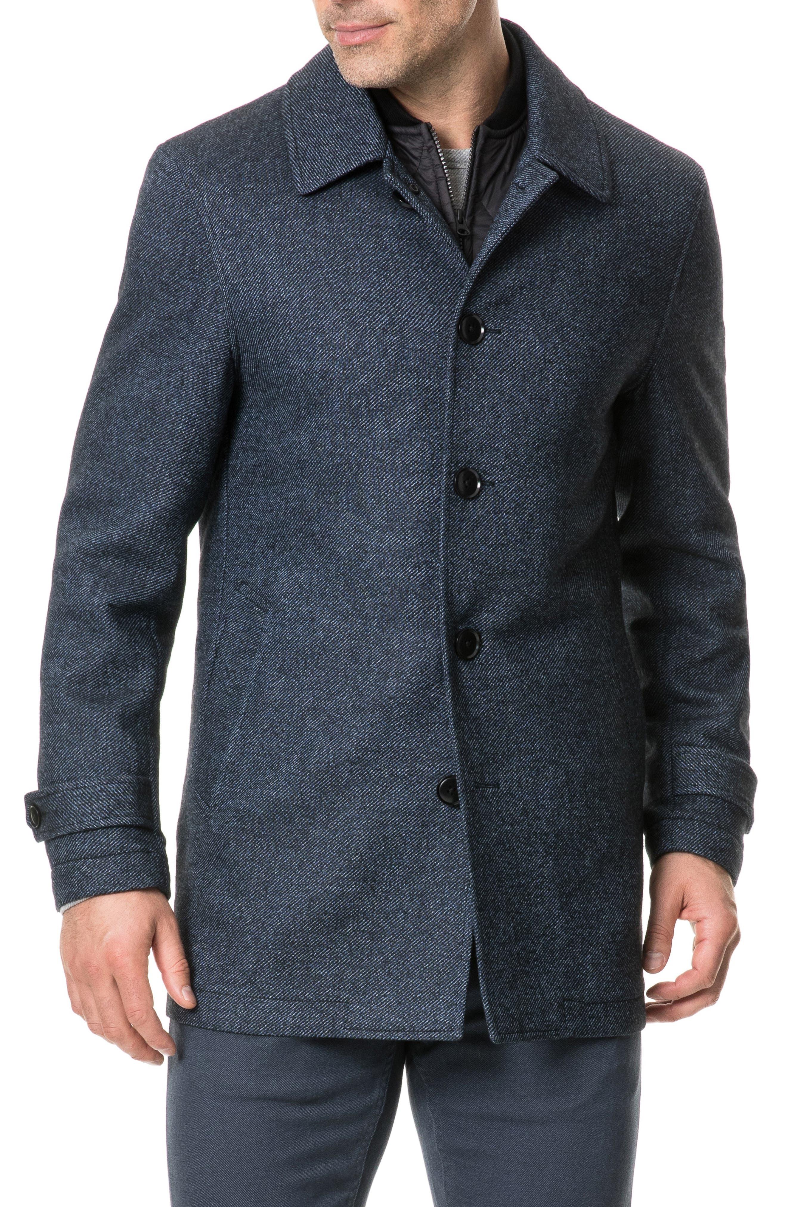 Balmoral Forest Regular Fit Coat,                             Main thumbnail 1, color,                             PEACOAT