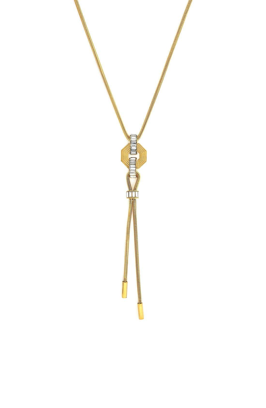 Baguette Y-Necklace,                         Main,                         color, 710