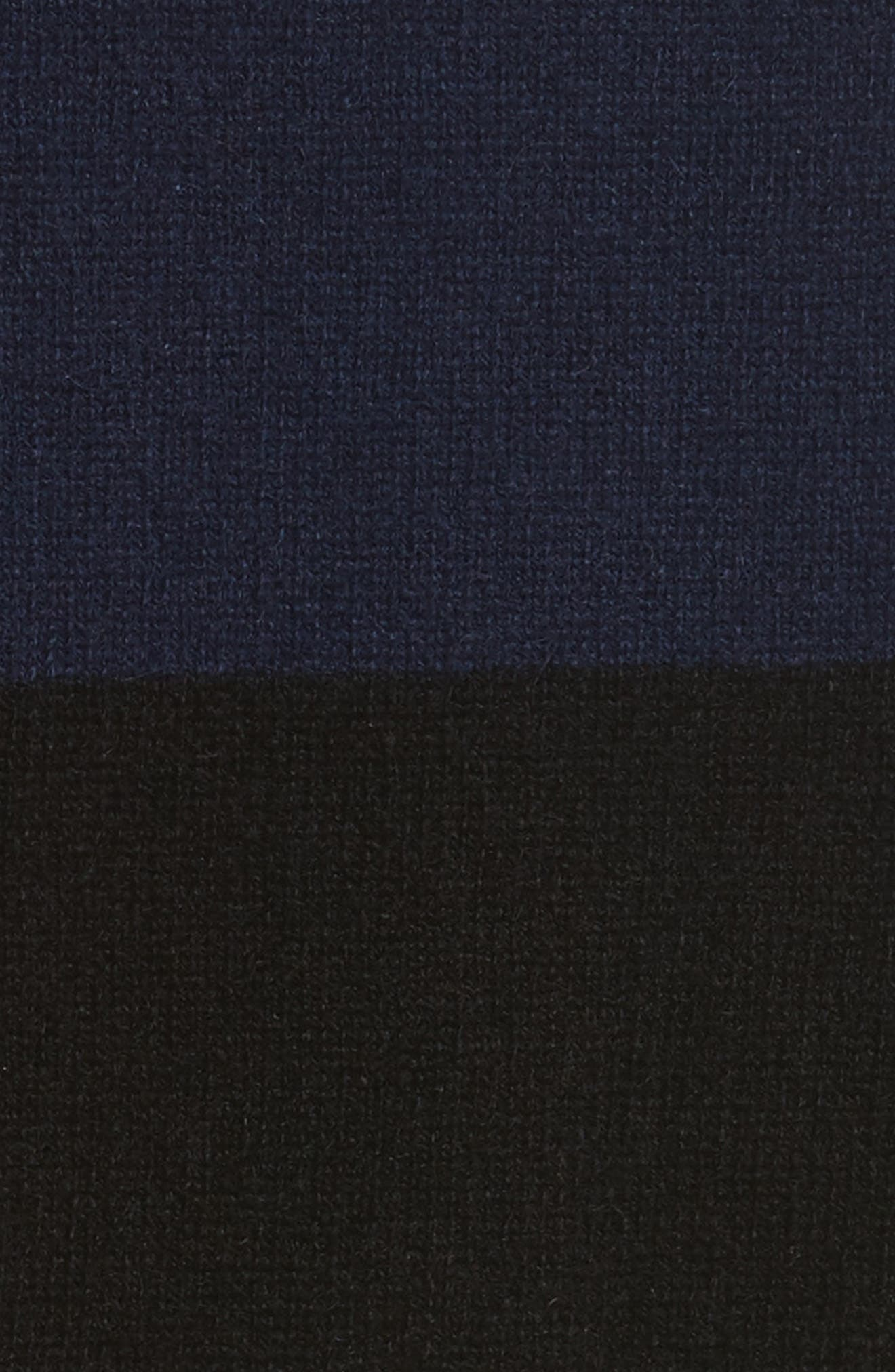 Shelly Stripe Cashmere Cardigan,                             Alternate thumbnail 5, color,                             001