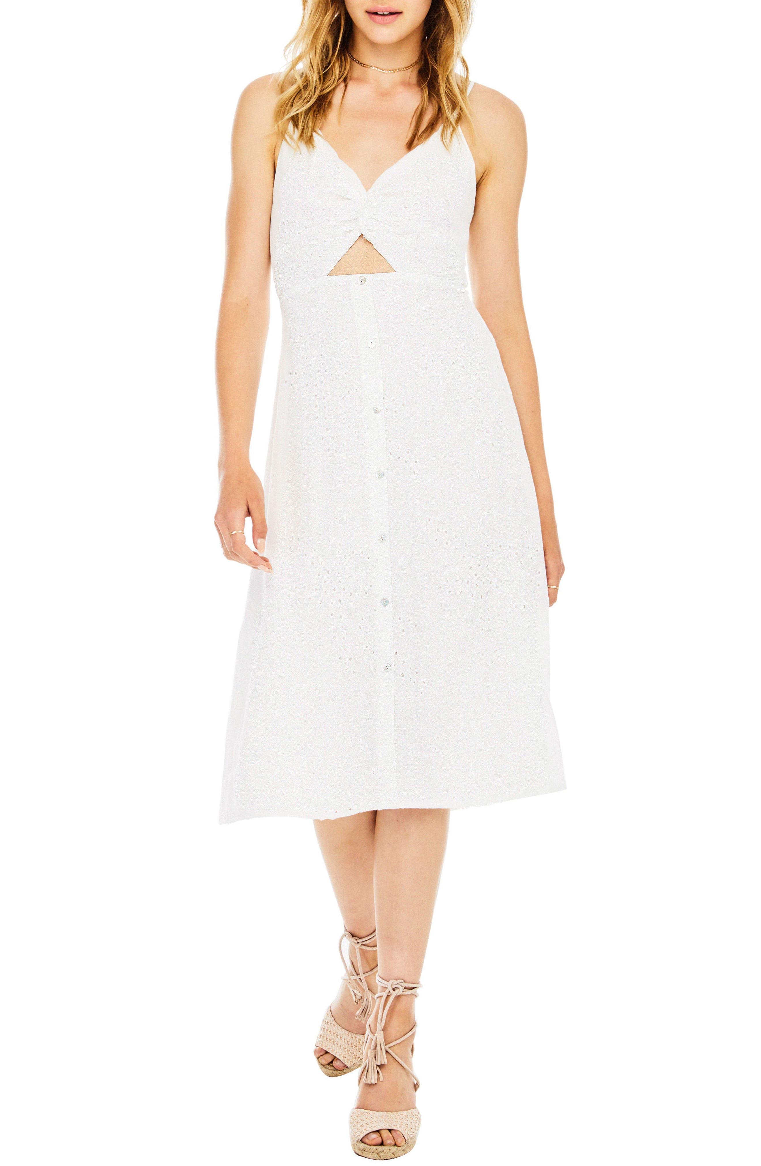ASTR THE LABEL Ellowyn Dress, Main, color, 100