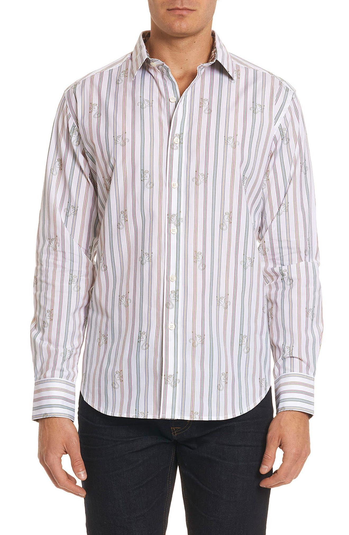 Trinidad Classic Fit Print Sport Shirt,                         Main,                         color,