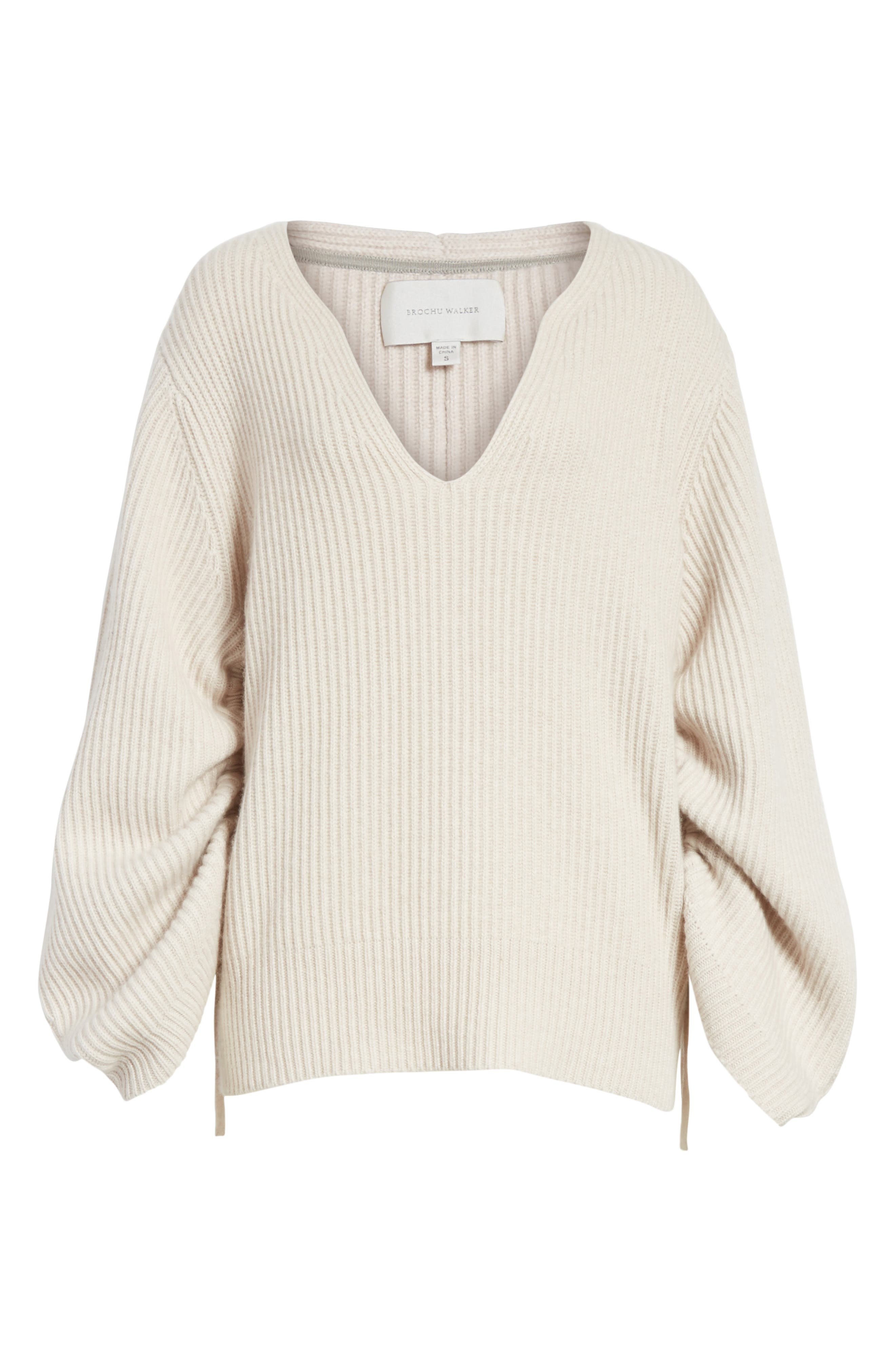 Anneka Wool & Cashmere Puff Sleeve Sweater,                             Alternate thumbnail 6, color,                             270