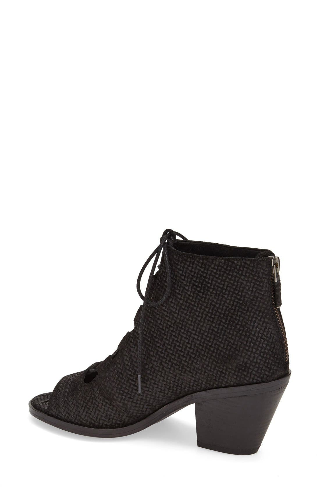 'Slew' Lace Up Bootie,                             Alternate thumbnail 3, color,                             001