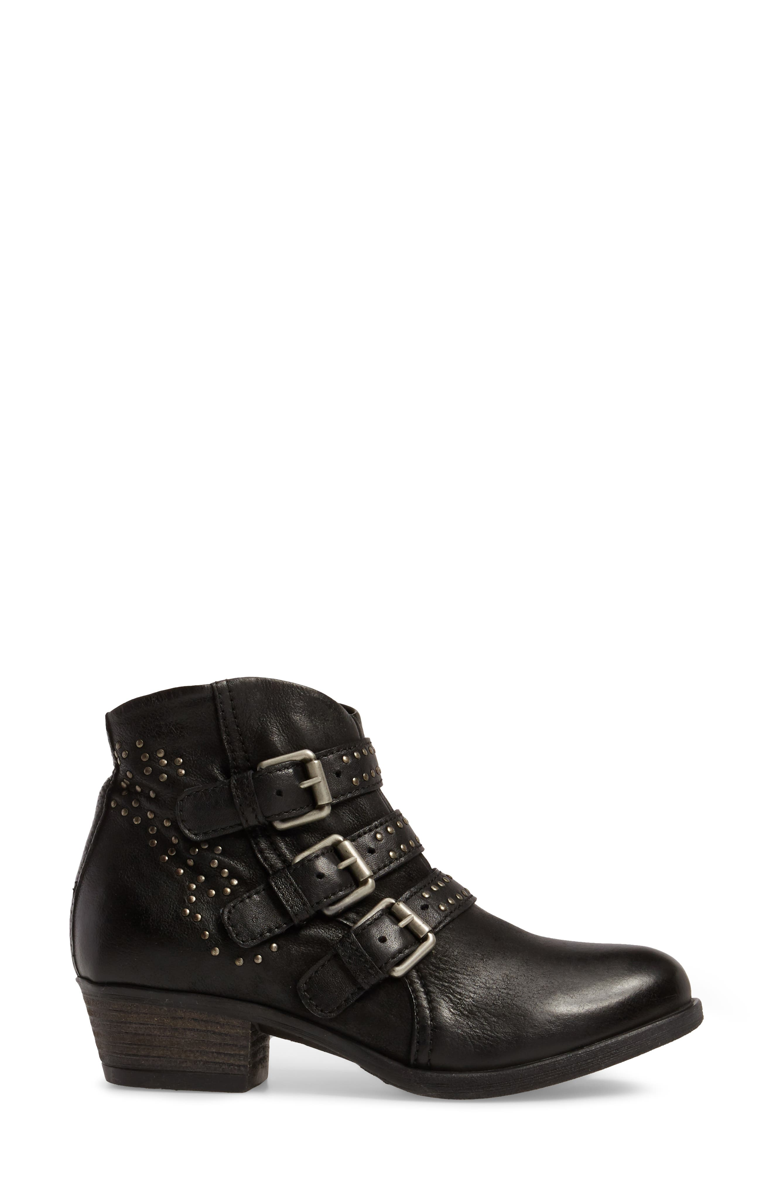 Barclay Studded Moto Bootie,                             Alternate thumbnail 3, color,                             001