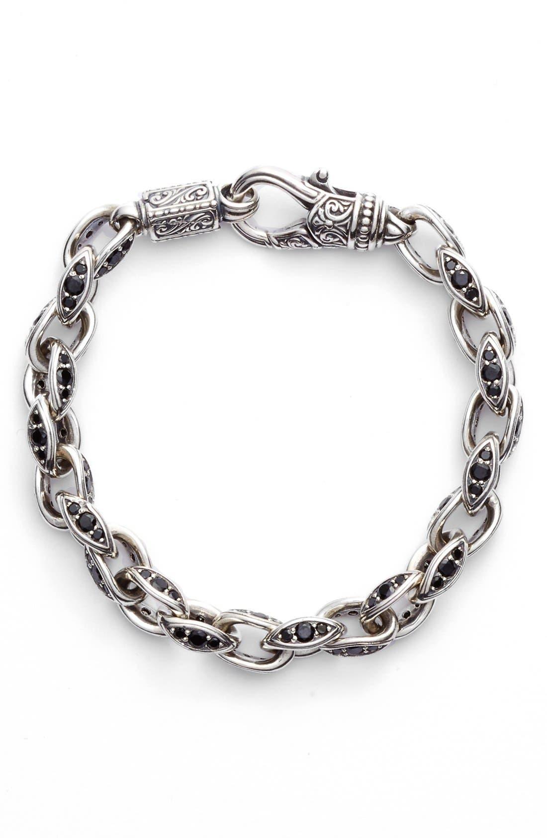 Semiprecious Stone Link Bracelet,                         Main,                         color, 040